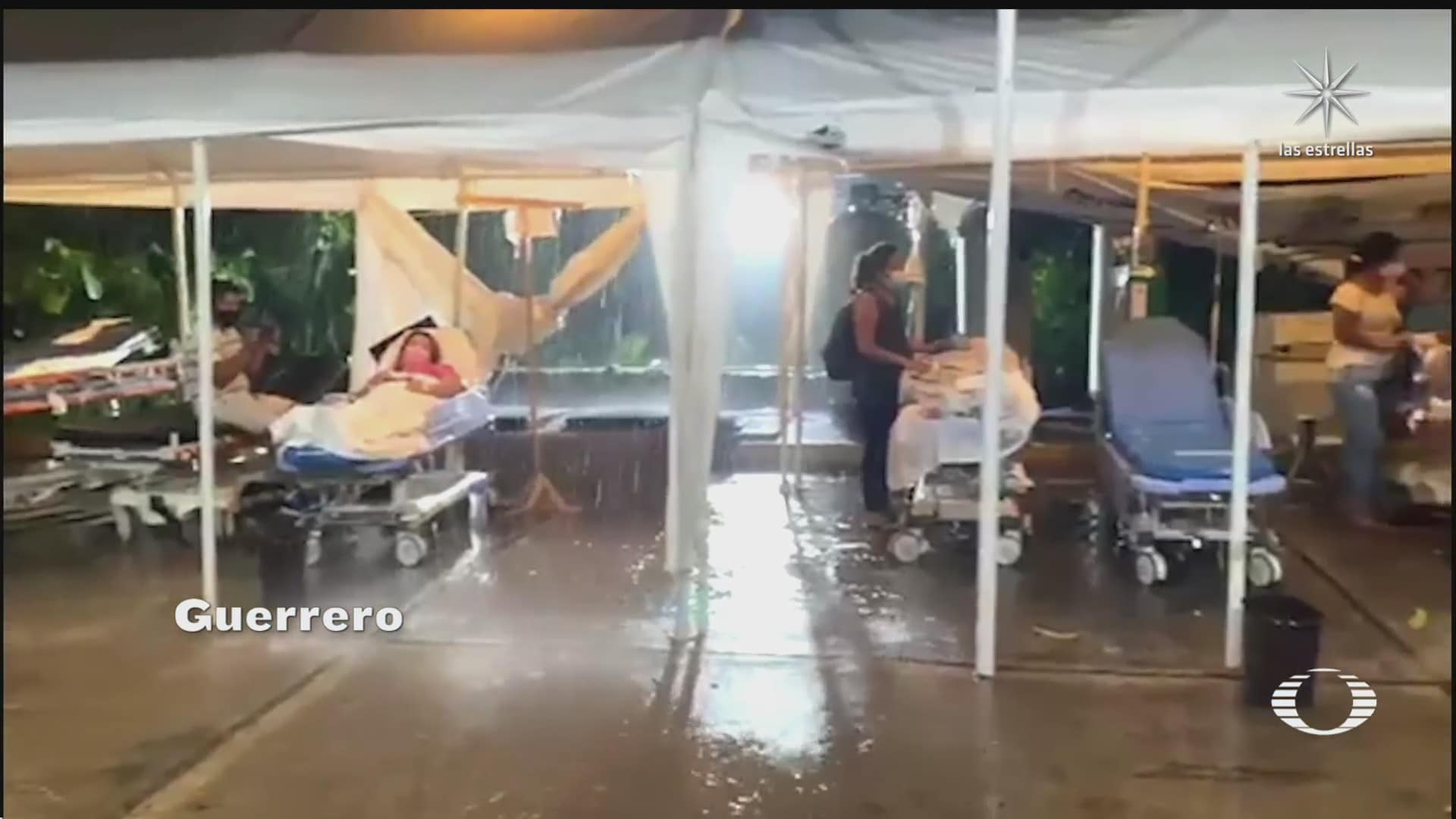 pacientes del hospital del issste en acapulco padecen estragos de las lluvias