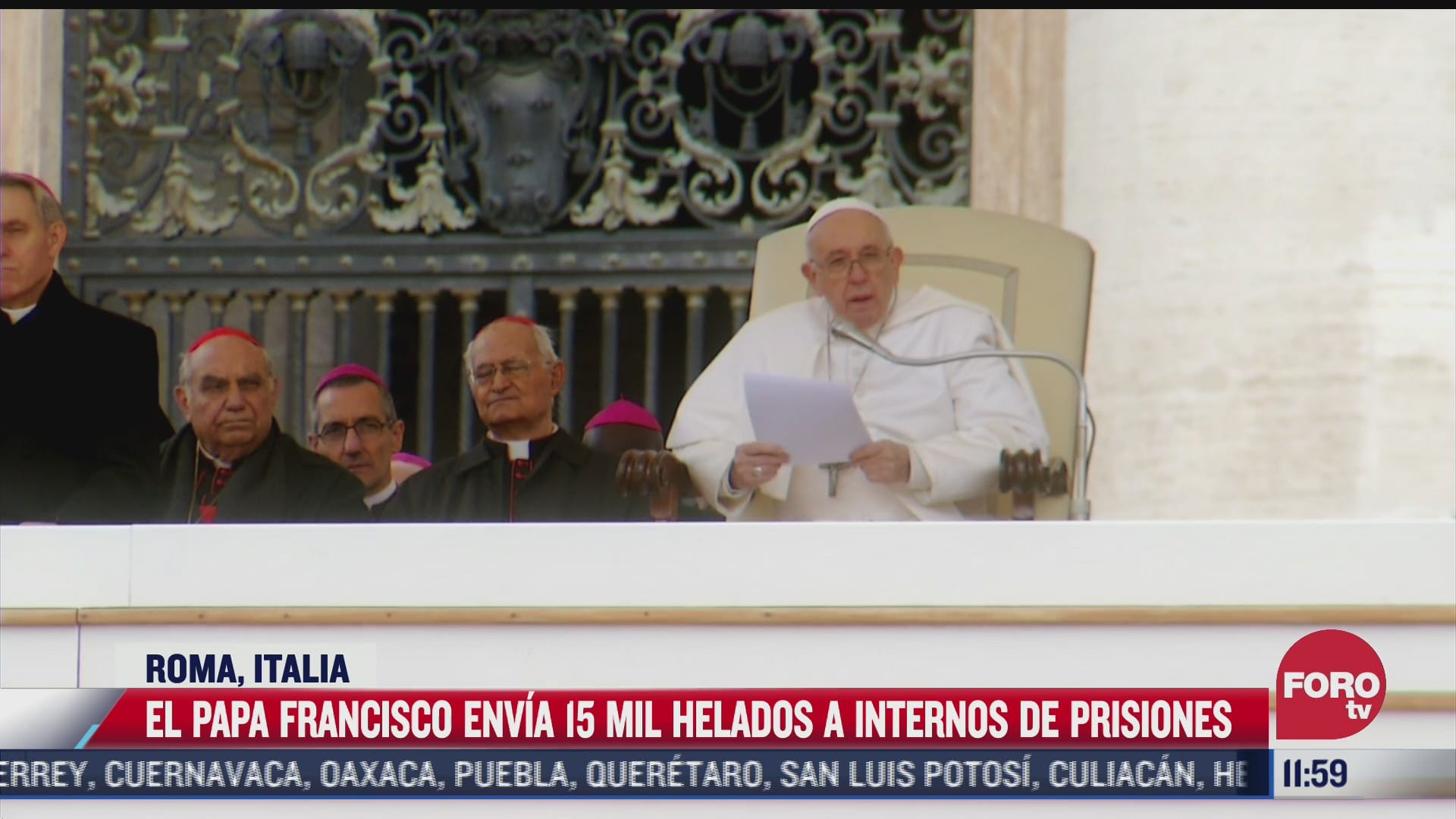 papa francisco envia 15 mil helados a internos de prisiones