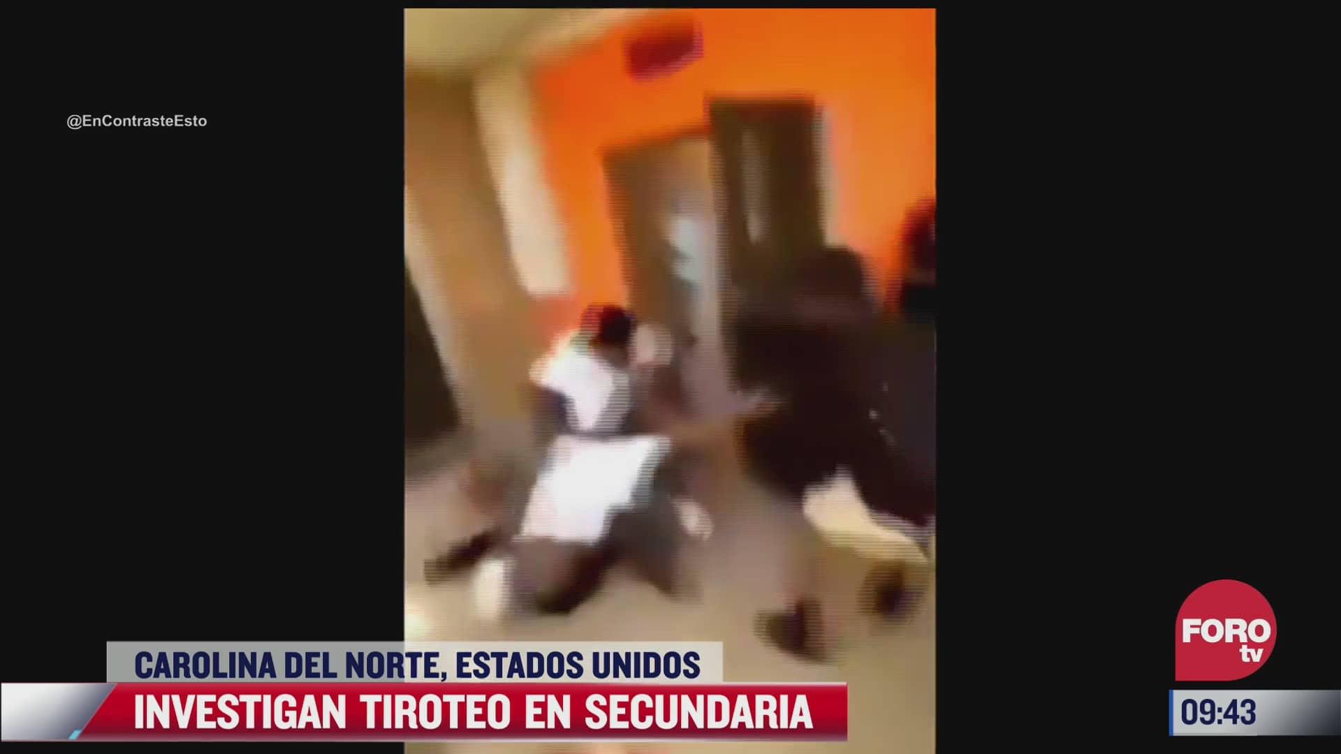 pelea y tiroteo en escuela secundaria deja un estudiante muerto