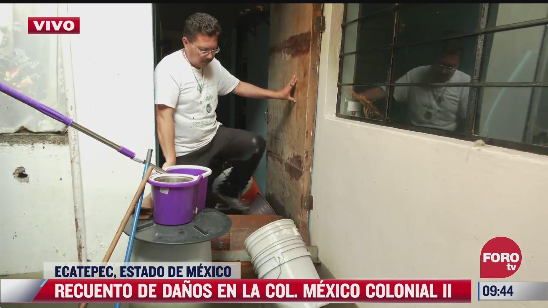 perdi todas mis cosas comenta javier senor afectado por inundaciones en ecatepec