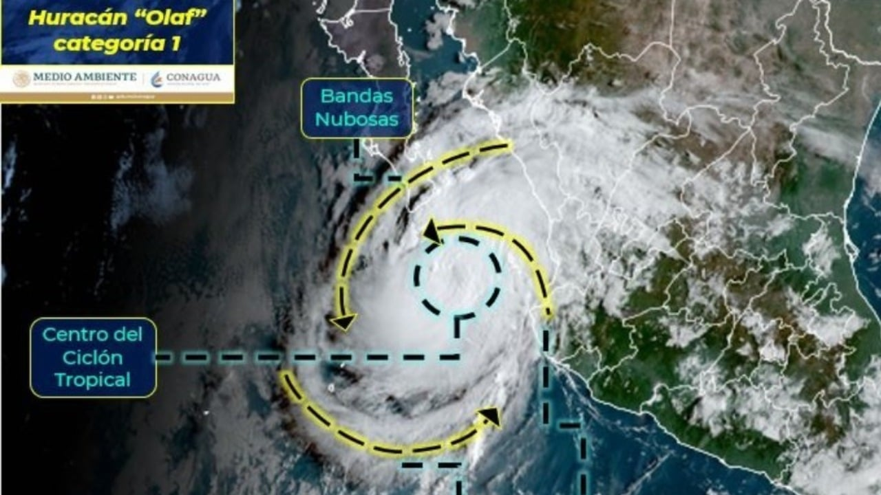 Tormenta tropical Olaf se intensifica a huracán categoría 1 rumbo a Los Cabos