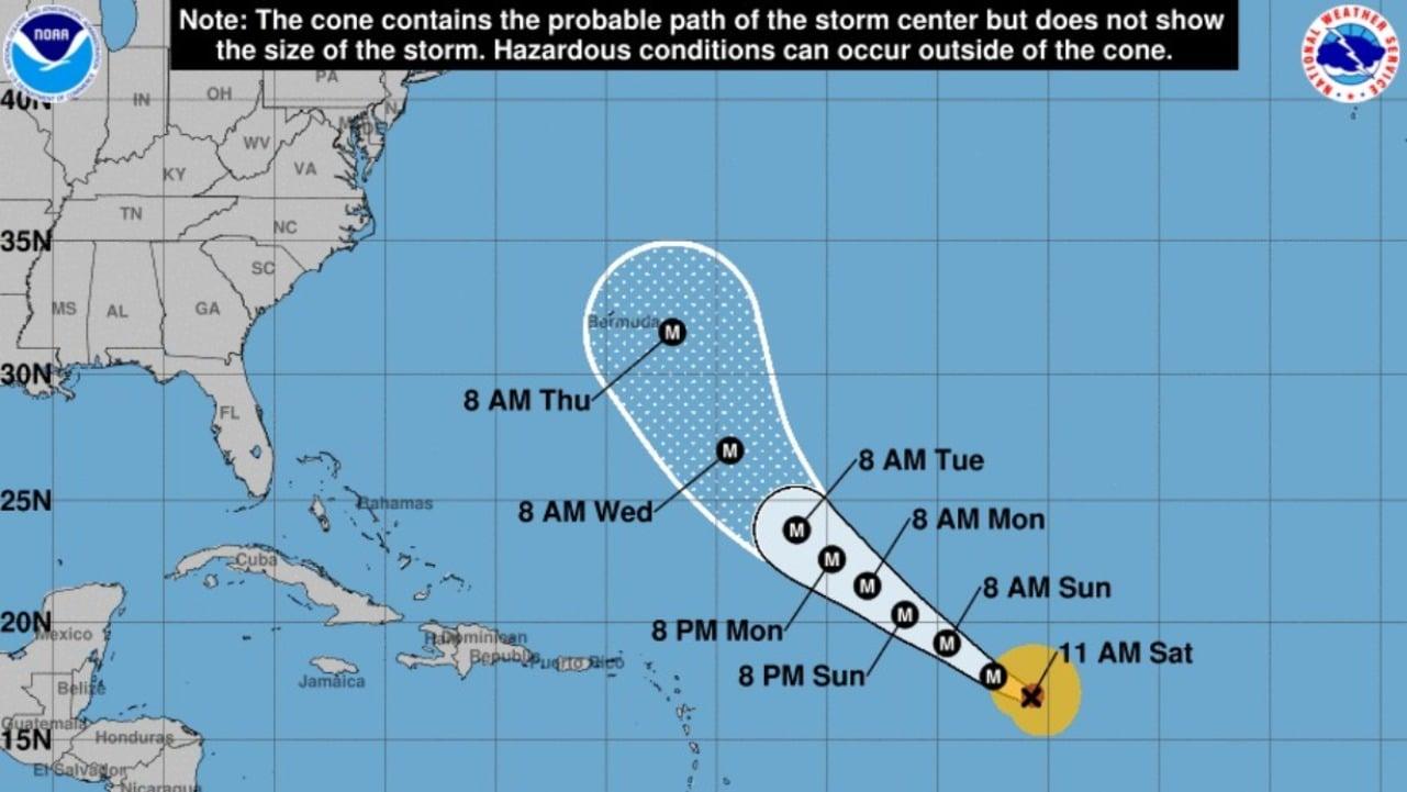 Aumenta potencia del huracán Larry y amenaza a costas de EEUU