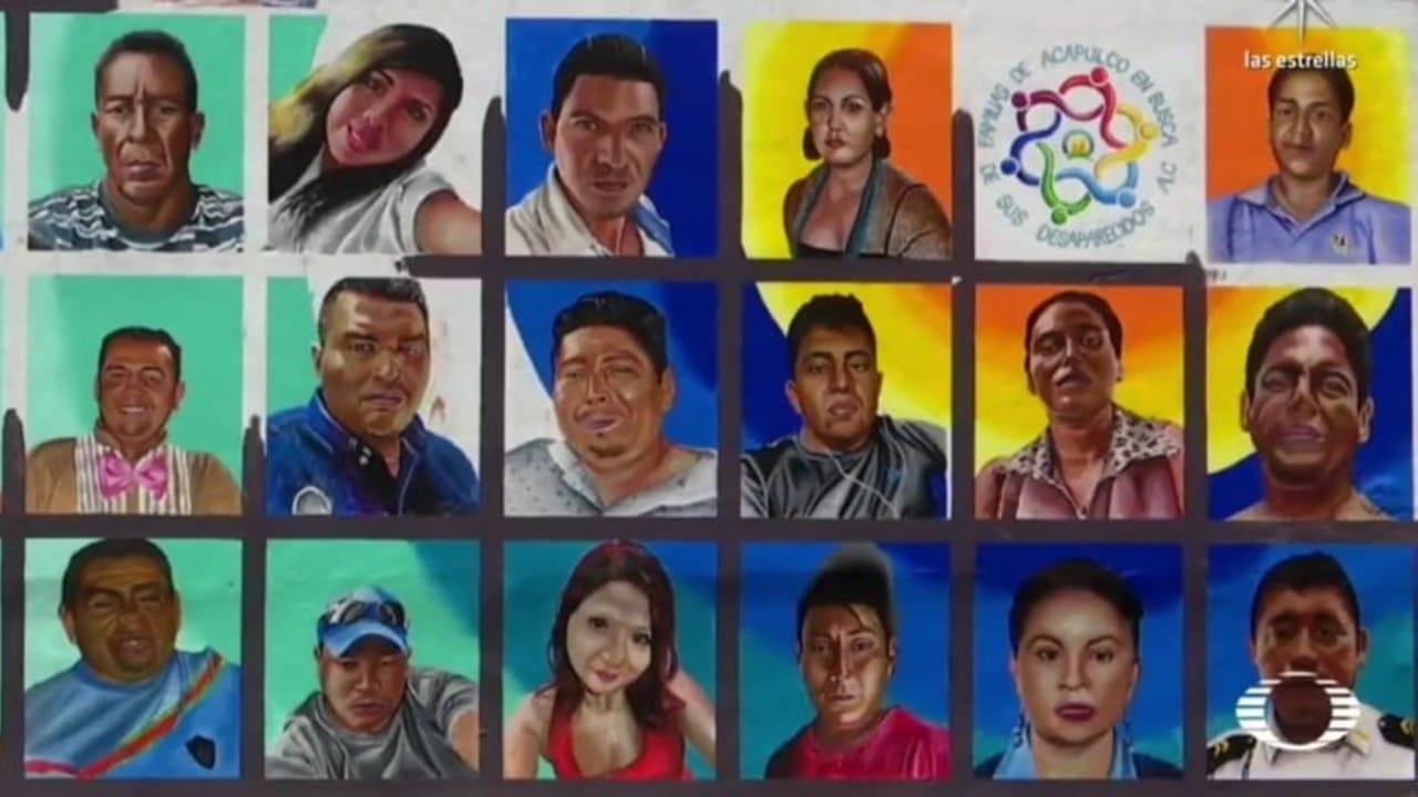Plasman en mural de Acapulco rostros de miles de desaparecidos; familiares siguen buscándolos