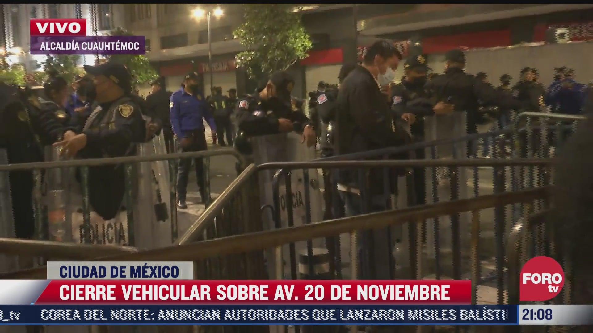 policias cierran 20 de noviembre en el centro historico de la cdmx por grito