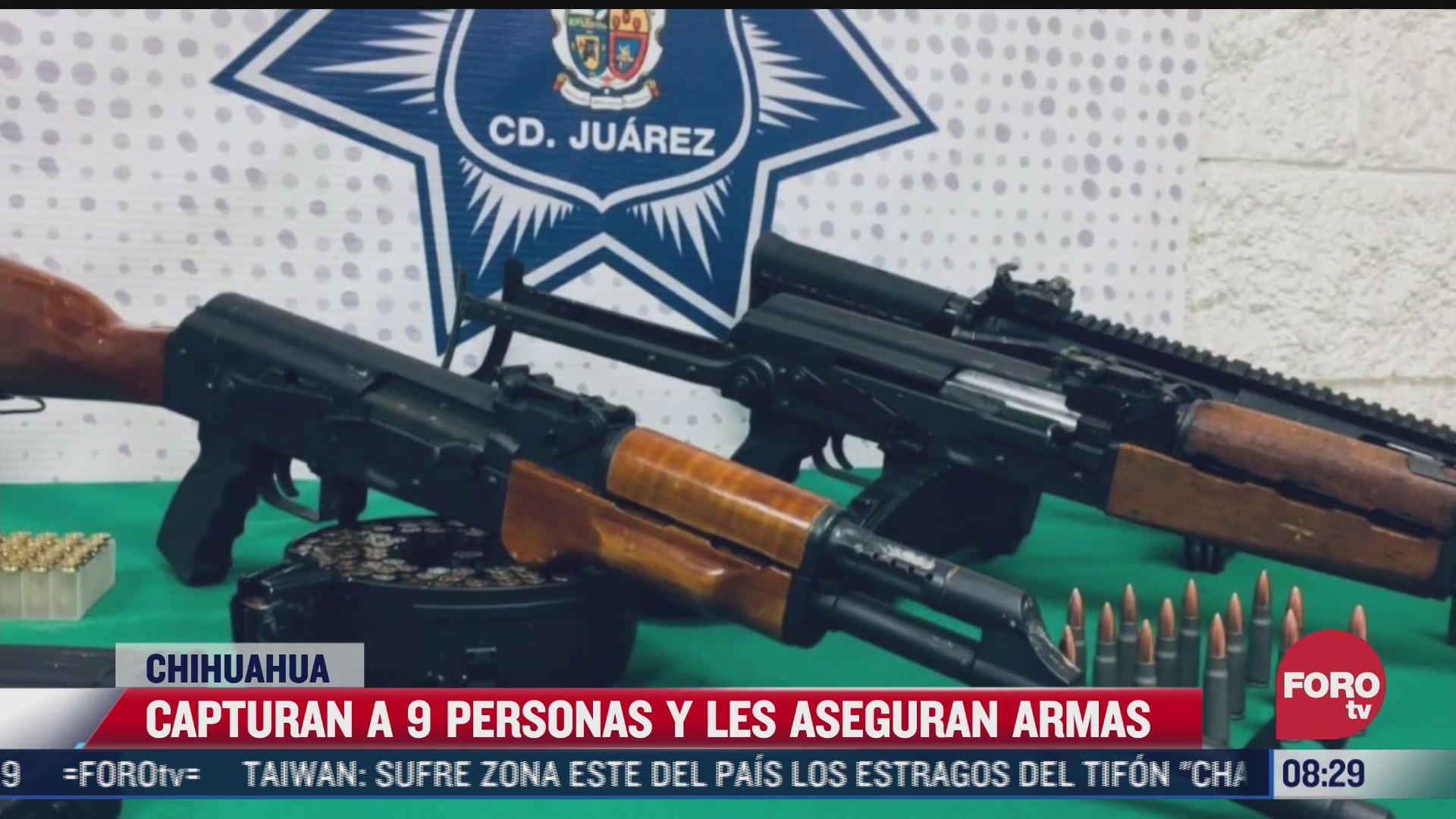 policias de ciudad juarez detienen a 9 integrantes del grupo delictivo los mexicles