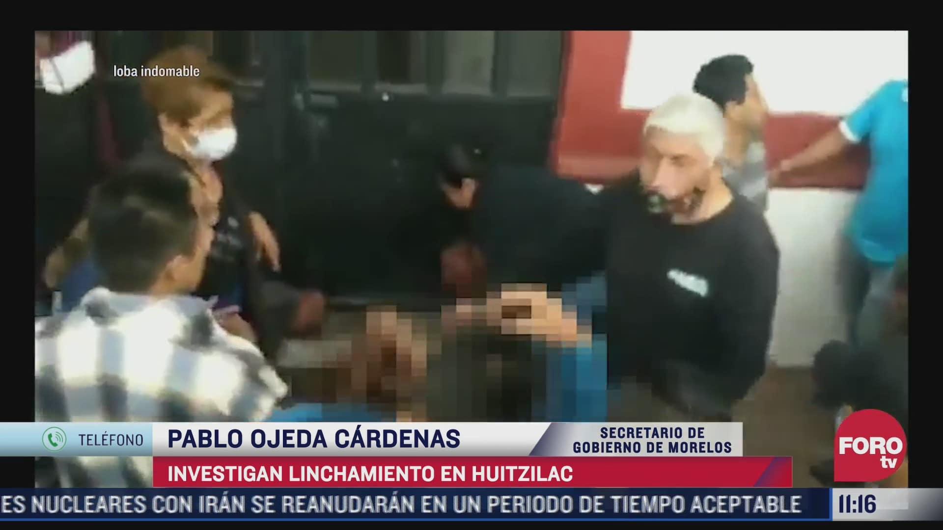 policias se vieron sobrepasados por turba durante linchamiento en huitzilac morelos secretario de gobierno