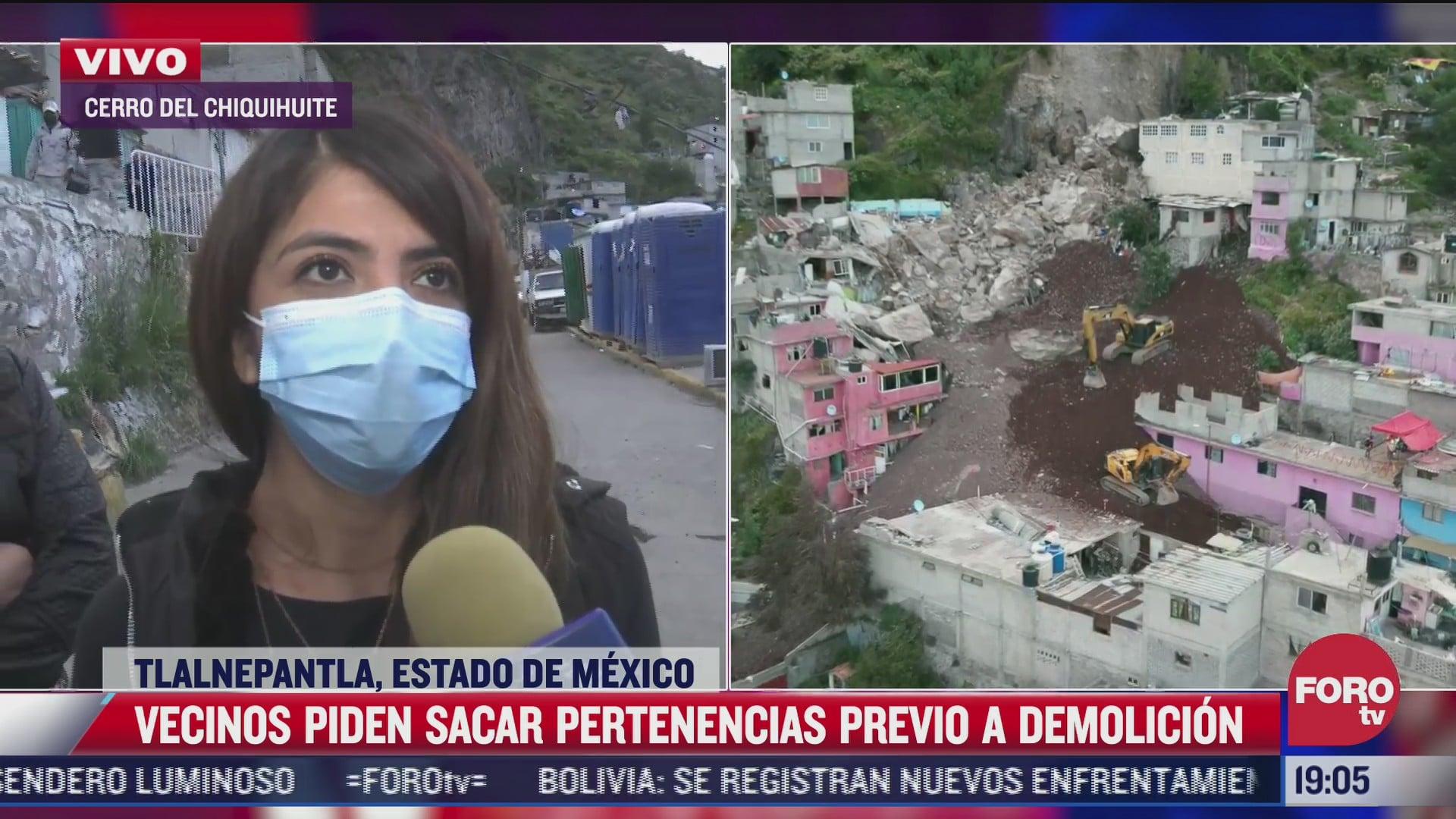 preparan trabajos para demolicion en el cerro del chiquihuite