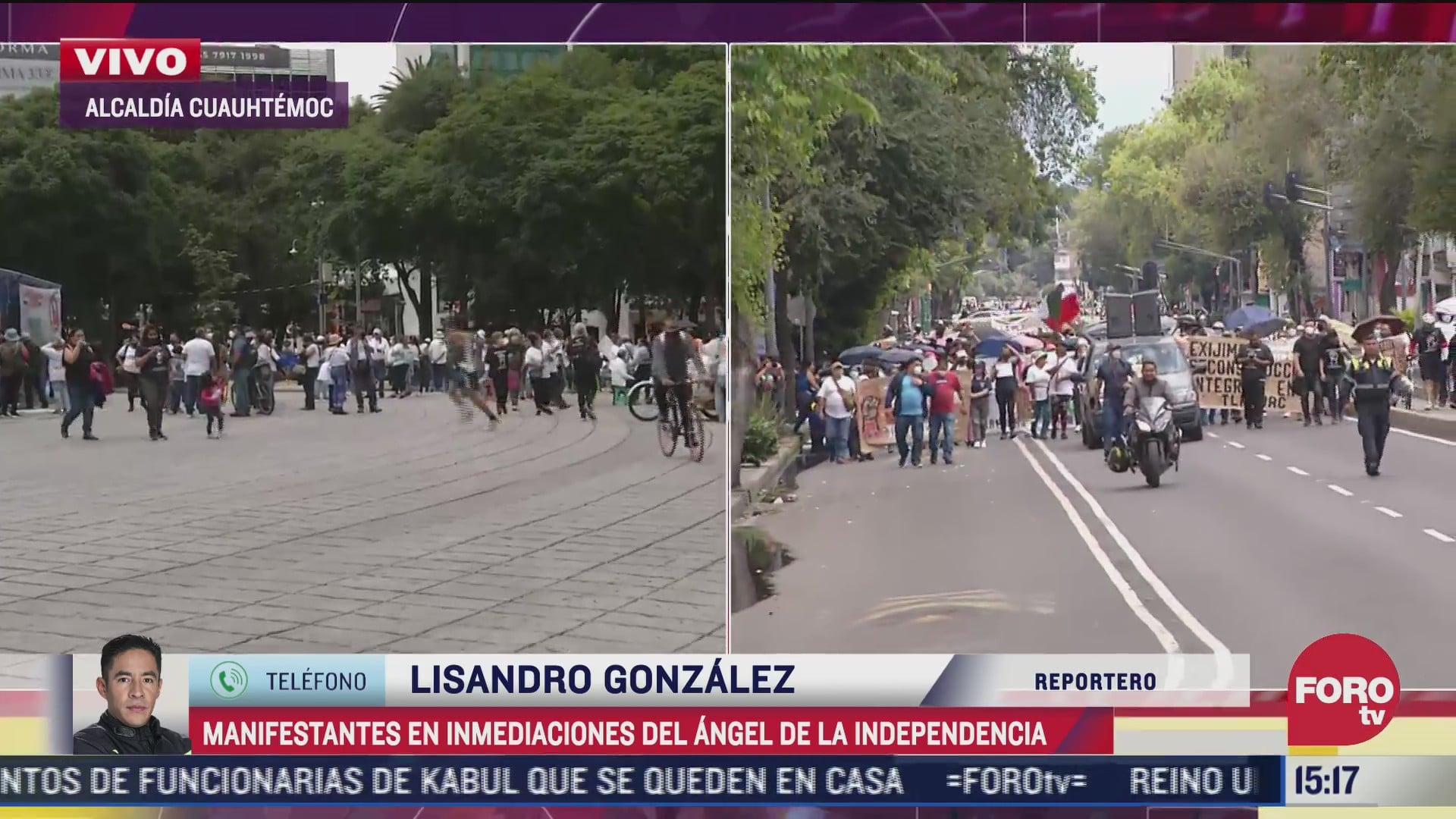 protesta afecta circulacion en paseo de la reforma
