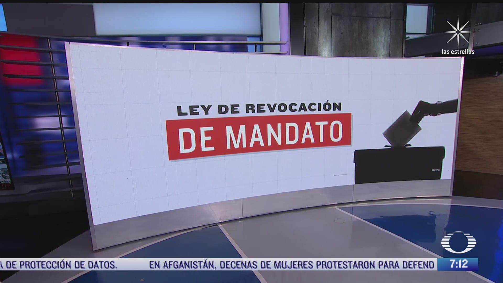que es la ley de revocacion del mandato