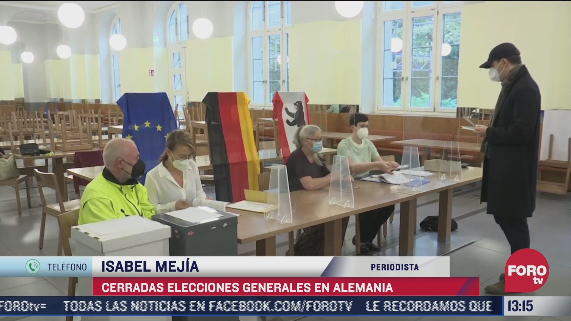 quienes encabezan las elecciones generales en alemania
