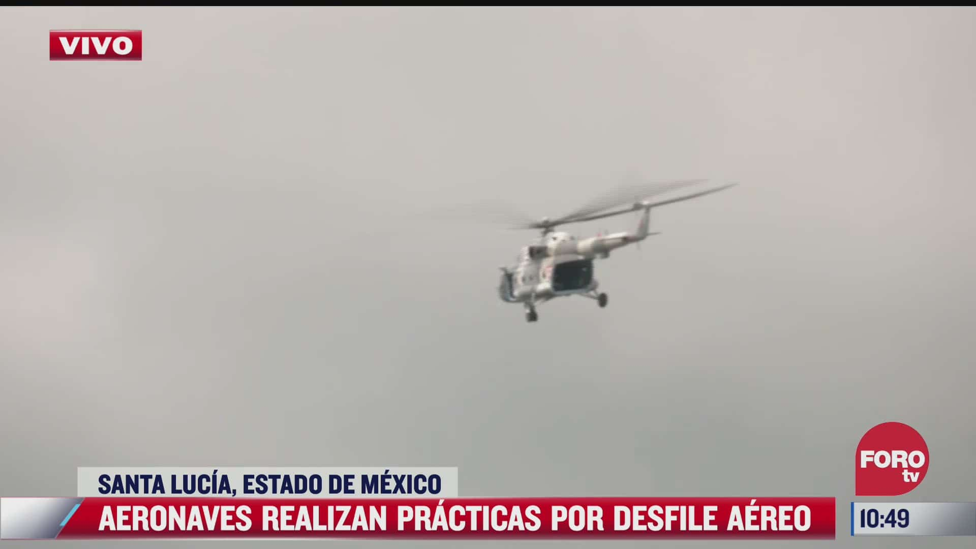realizan aeronaves practicas por desfile aereo