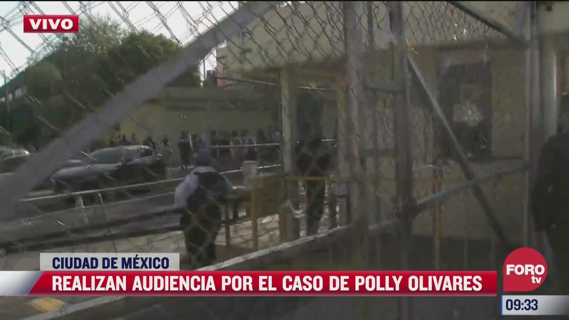 realizan audiencia por caso de polly olivares