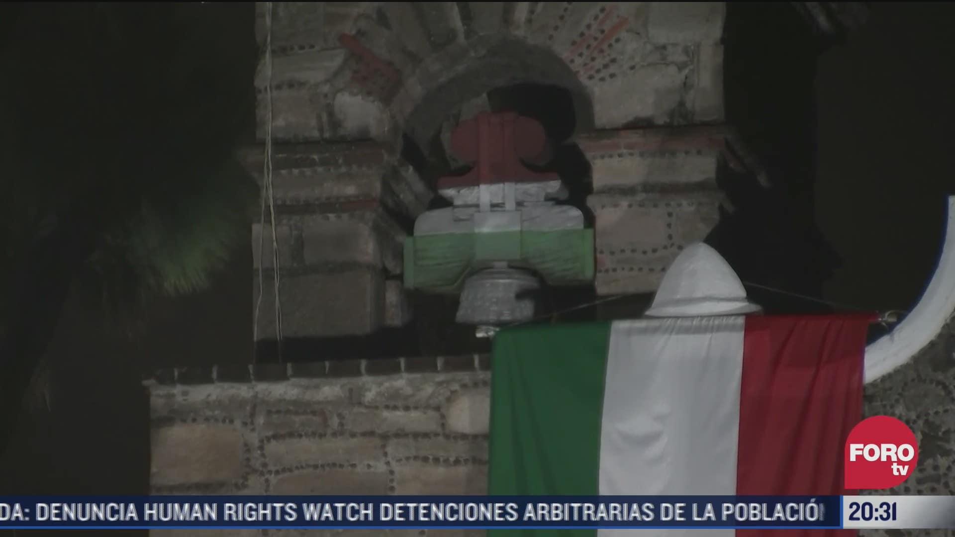 realizan repique de campanas por 200 anos de consumacion de independencia de mexico