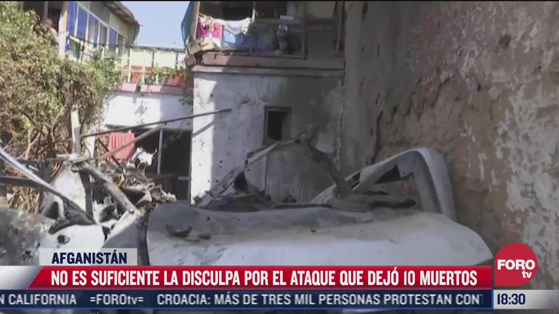 rechazan familias disculpa por ataque en afganistan