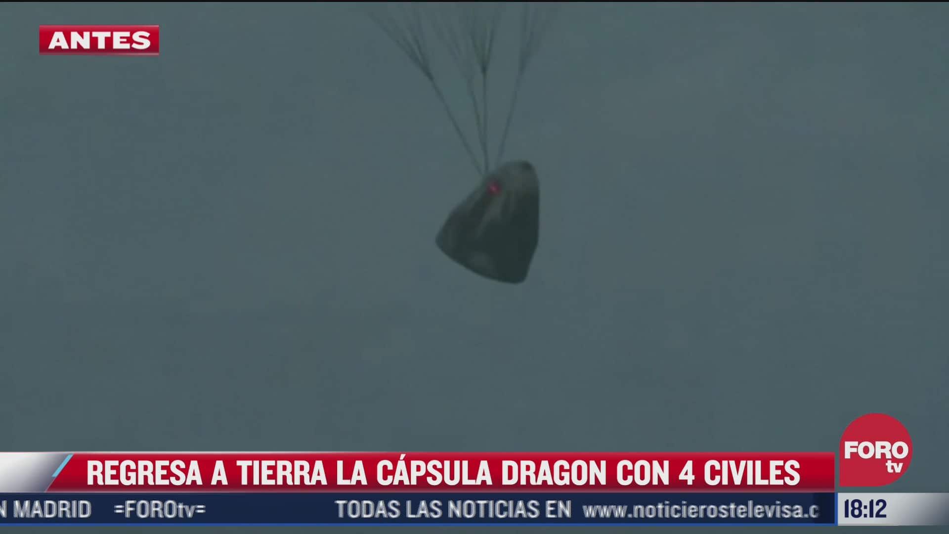 regresa a la tierra la capsula dragon