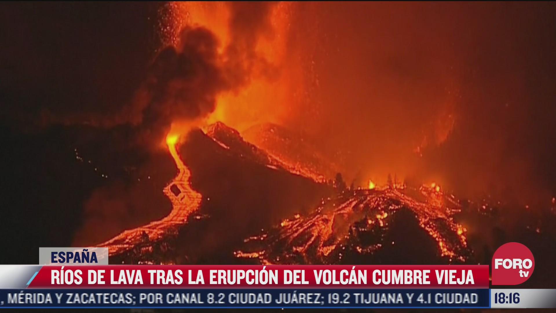 rios de lava tras erupcion del volcan cumbre vieja en espana