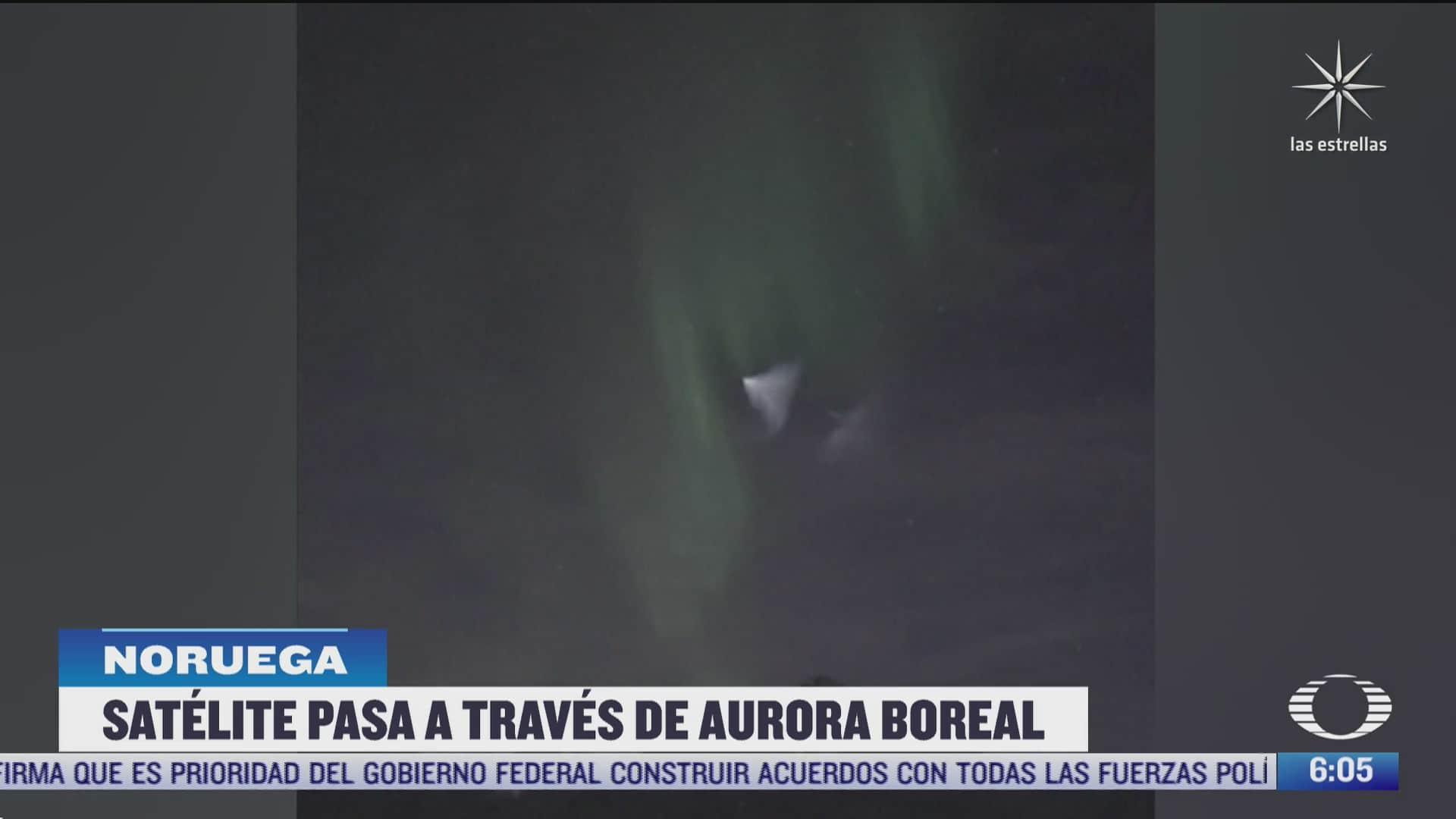 satelite de la nasa cruza espectacular aurora boreal