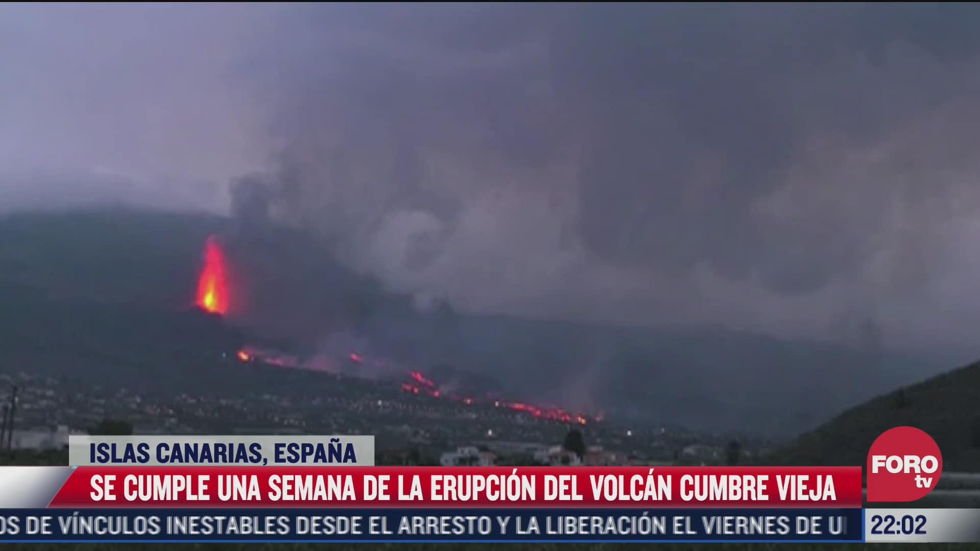 se cumple una semana de la erupcion del volcan cumbre vieja