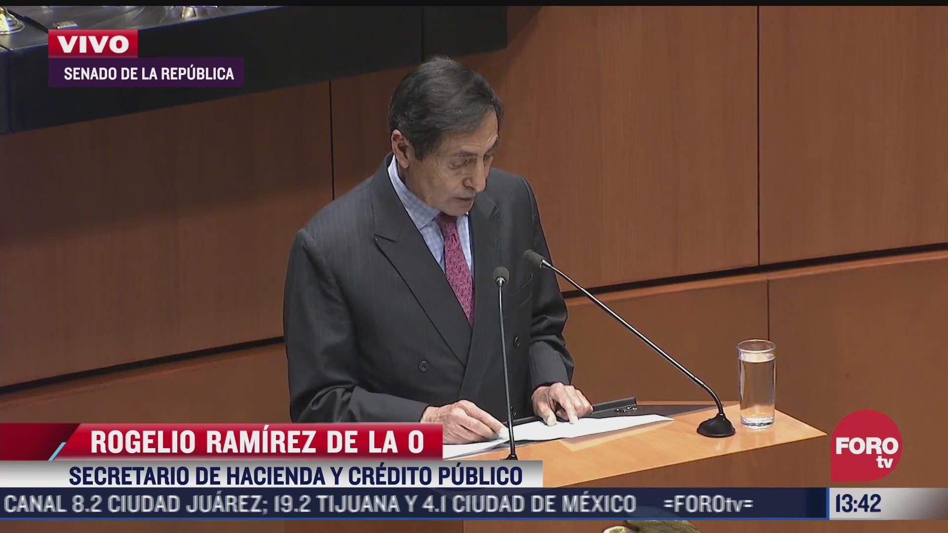 secretario de hacienda comparece ante el senado de la republica
