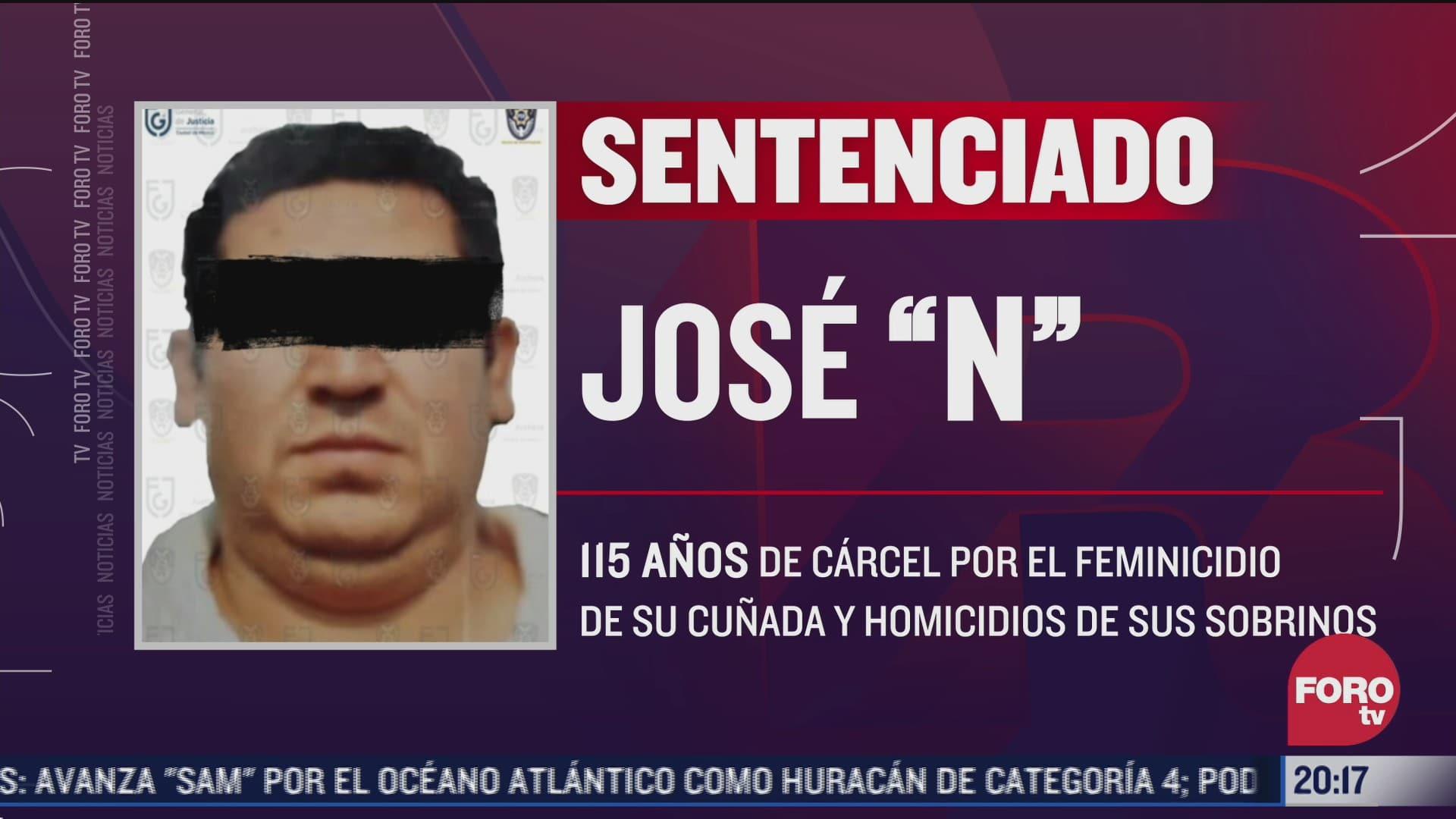 sentencia a hombre a 115 anos de carcel por asesinar a su cunada