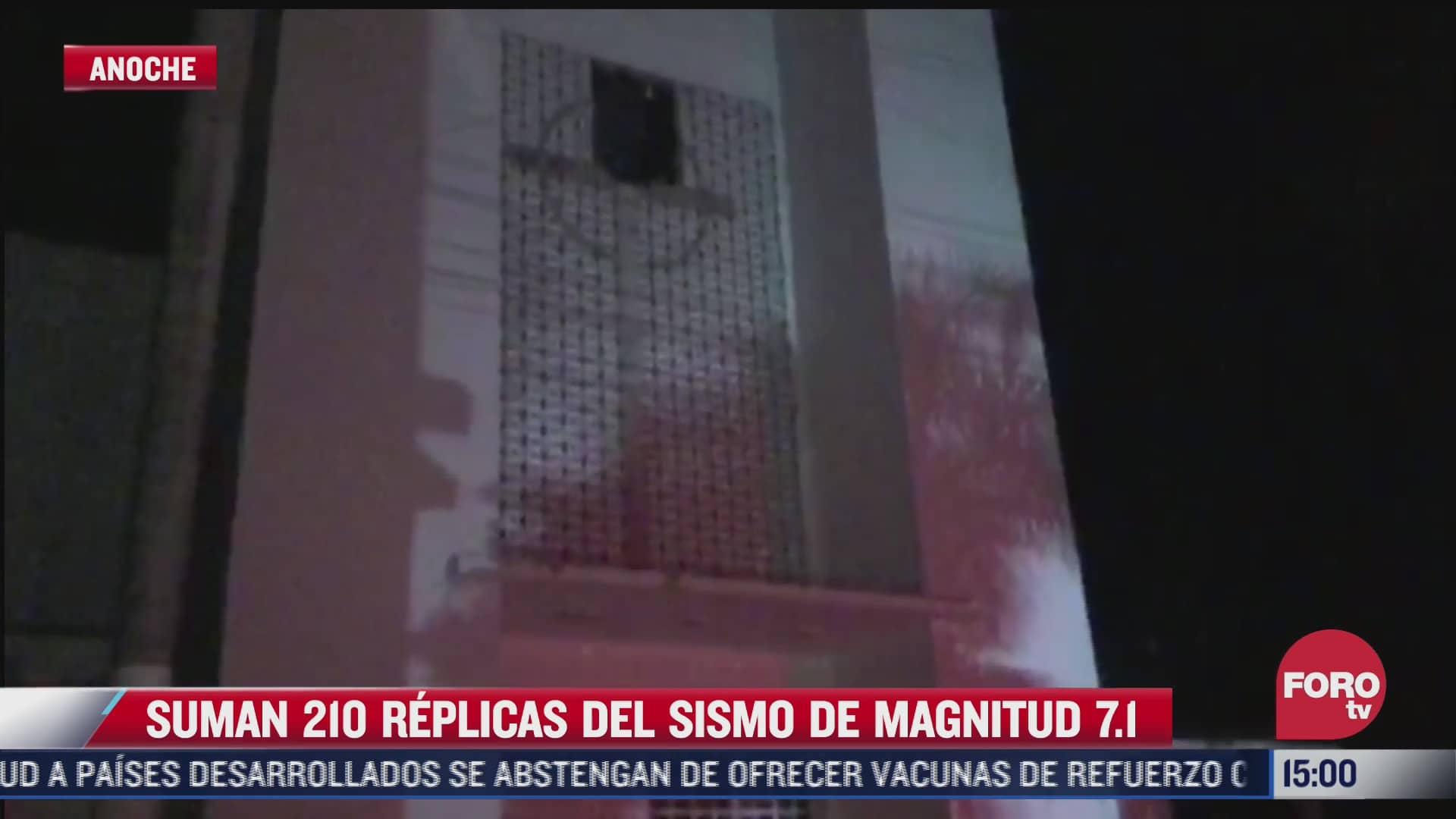 suman 210 replicas del sismo magnitud 7 1 en mexico