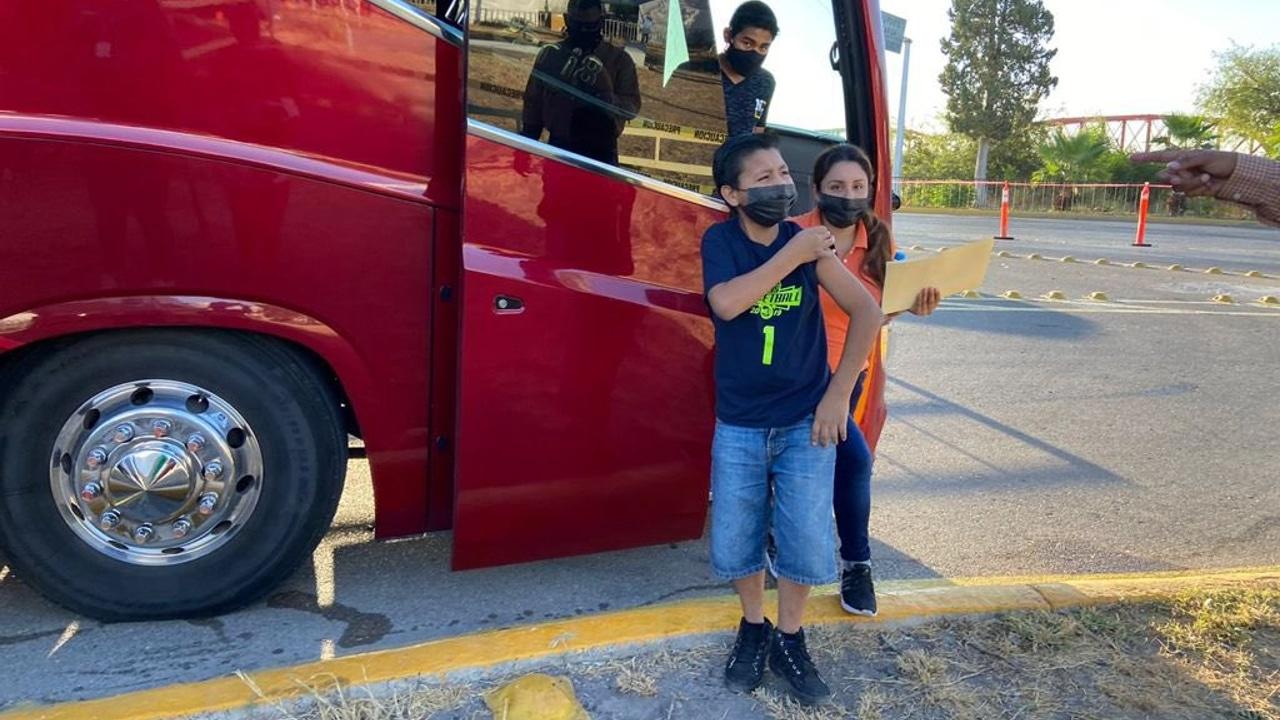 Inicia vacunación covid para niños de Piedras Negras, Coahuila, con Pfizer, donadas por EEUU