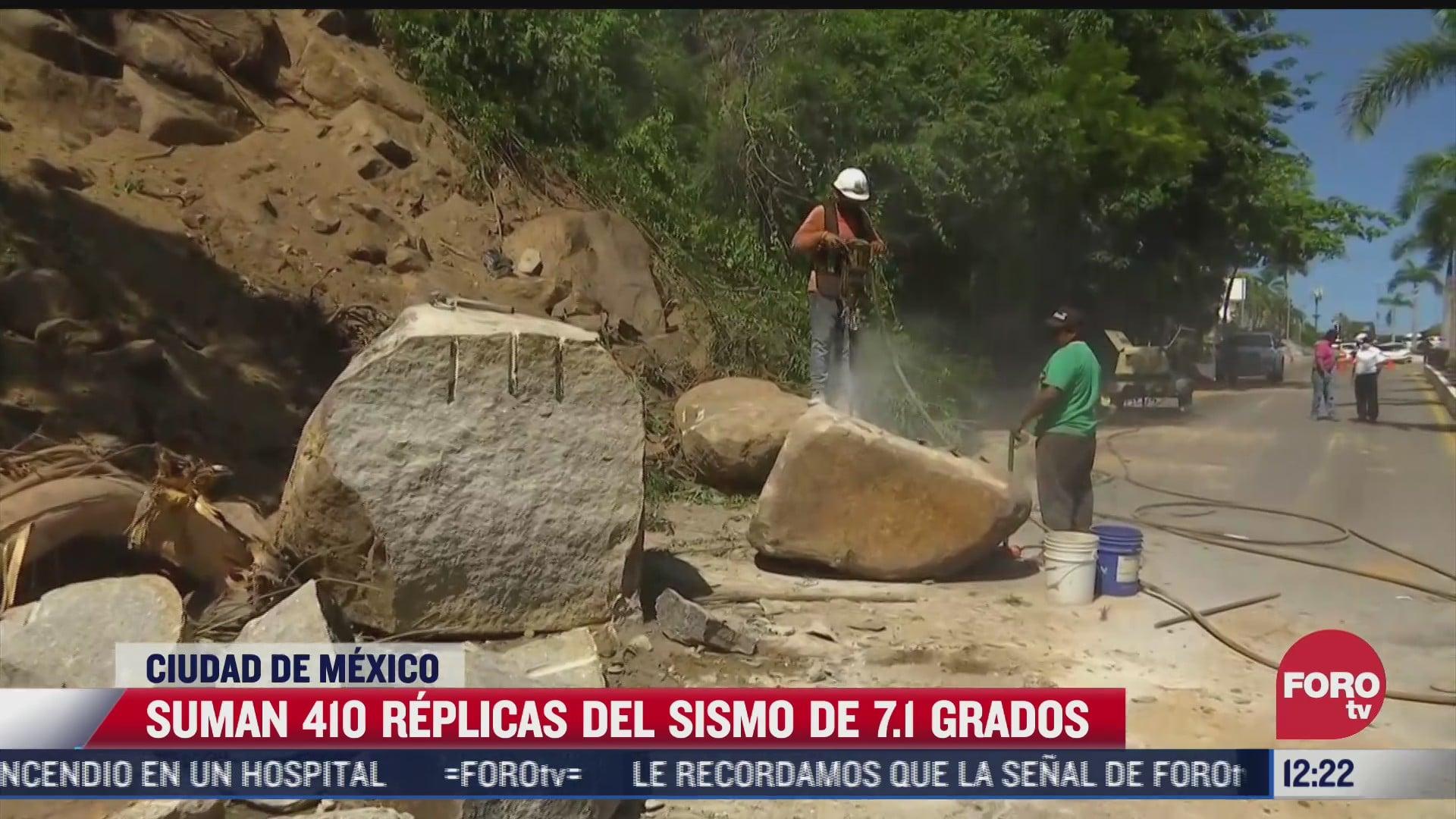 van 410 replicas del sismo magnitud