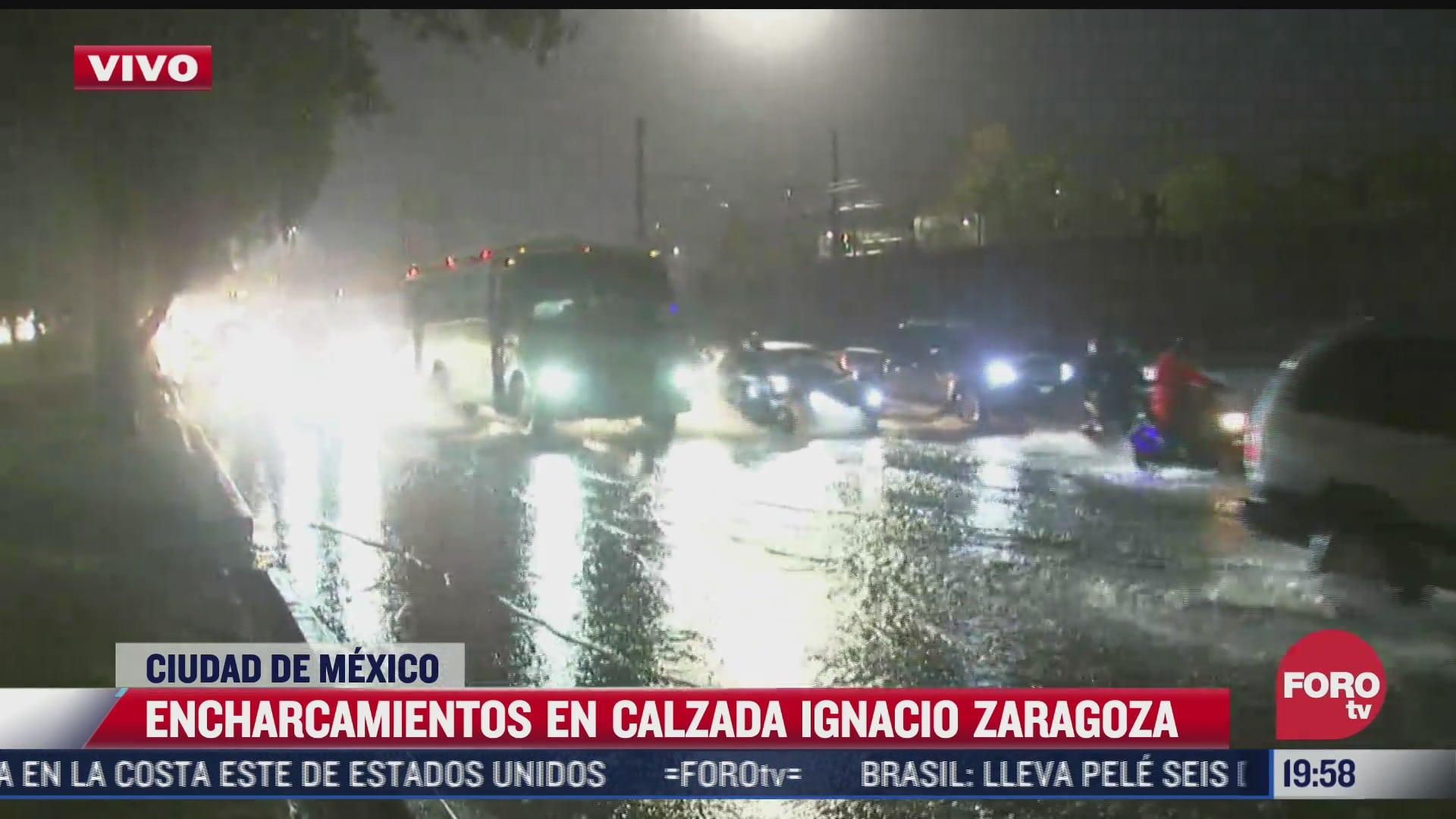 varios puntos de la cdmx estan colapsados tras fuertes lluvias