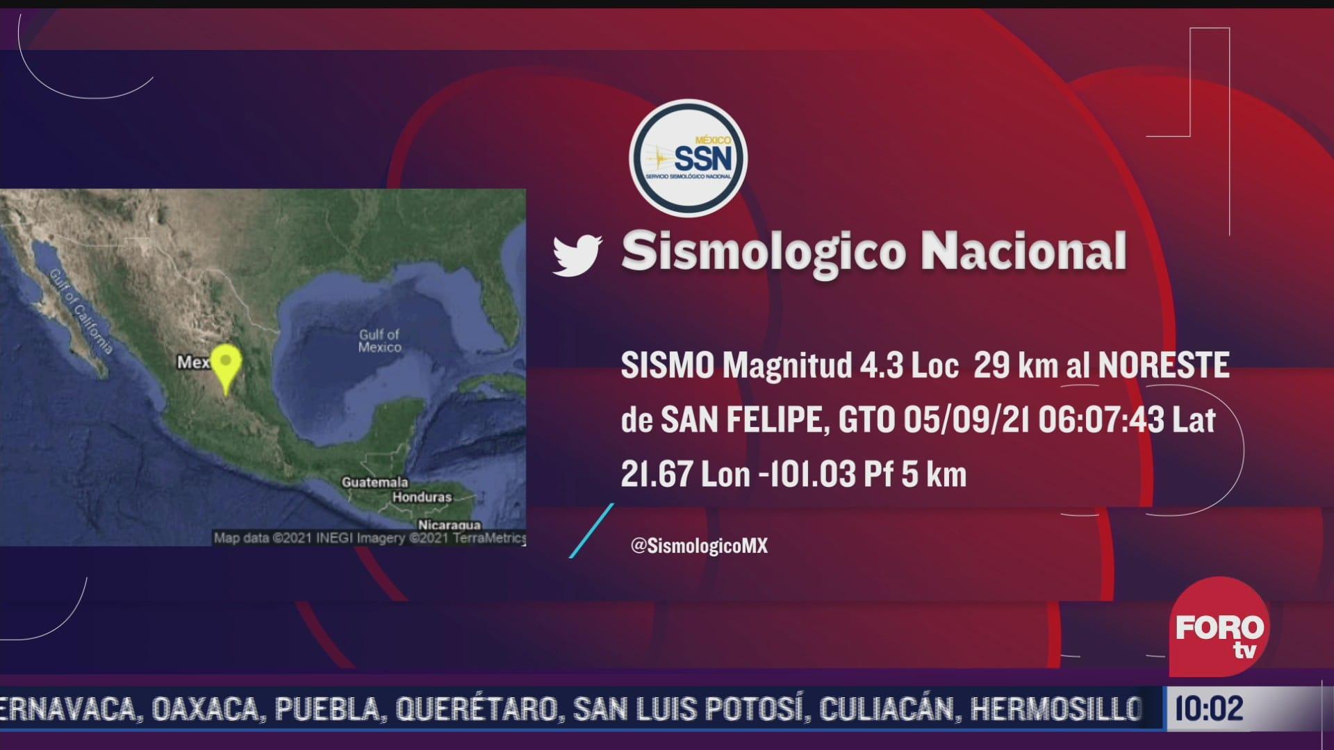 video asi se sintio el sismo en guanajuato este domingo 5 de septiembre