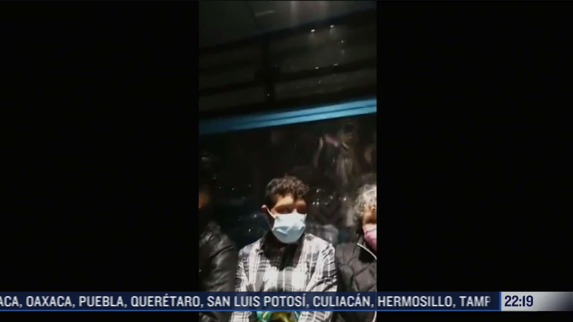 video asi se vivio el momento del sismo en el cablebus cdmx