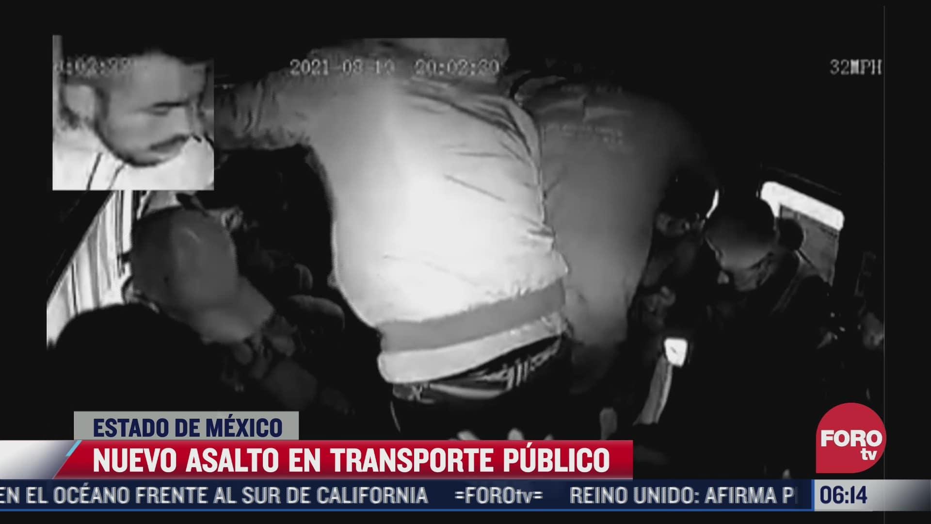 video captan nuevo asalto a transporte publico en ecatepec edomex