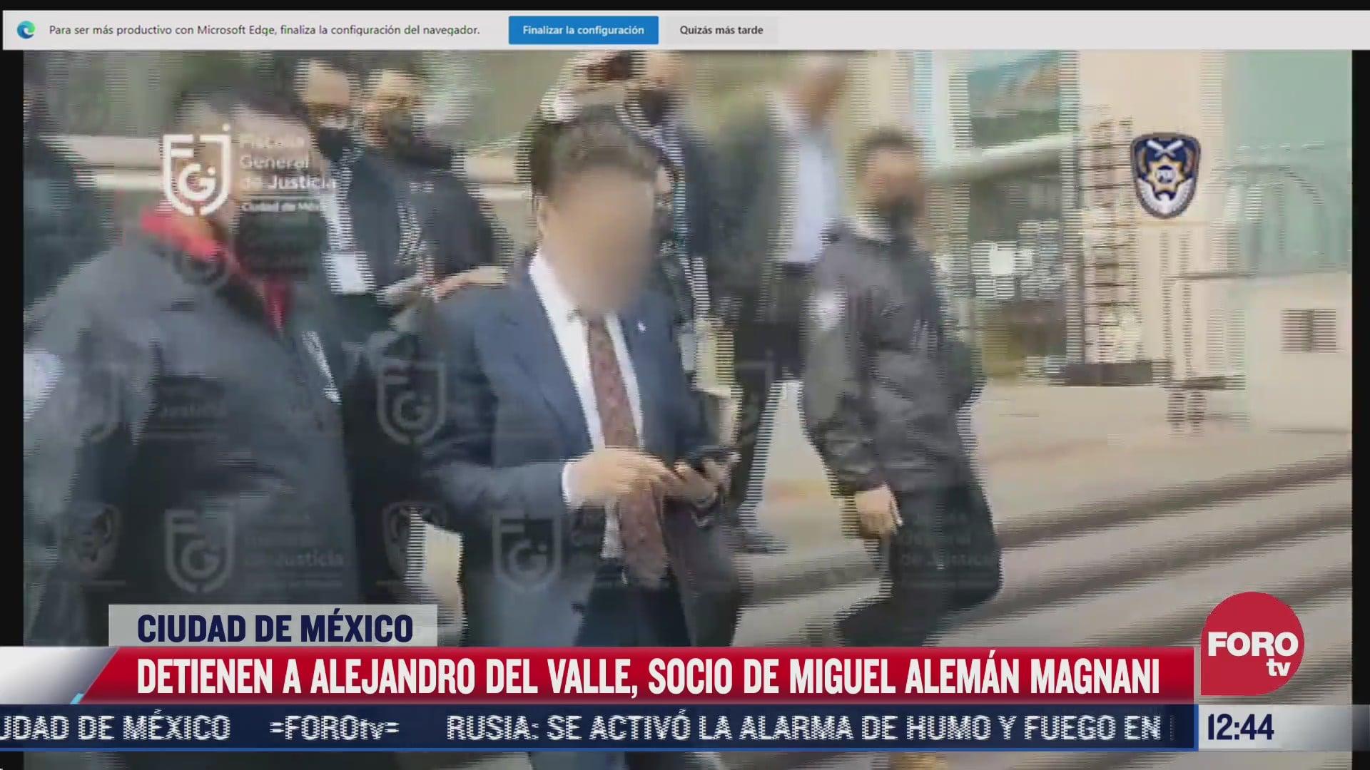 video momento de la detencion de alejandro del valle socio de miguel aleman magnani