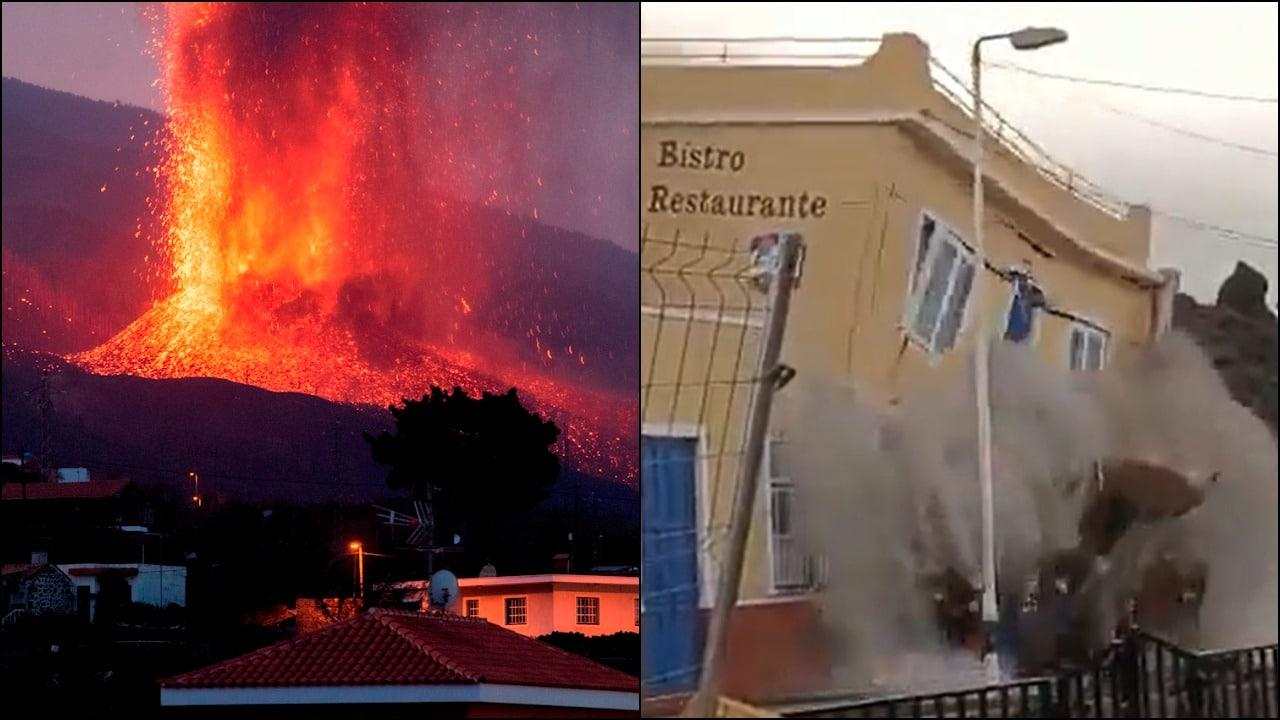 Volcán La Palma, erupción y daños en la isla de España