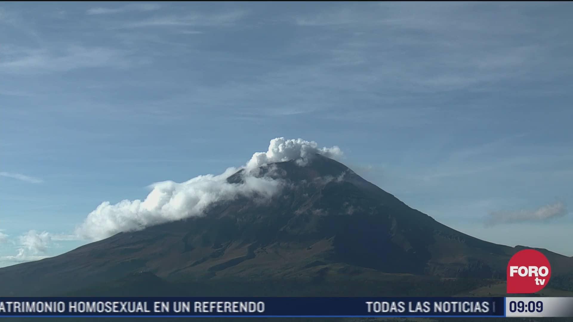 volcan popocatepetl amanece con una explosion hoy domingo 26 de septiembre