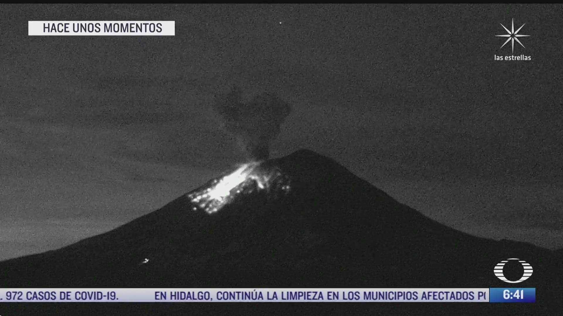 volcan popocatepetl registra nueva explosion