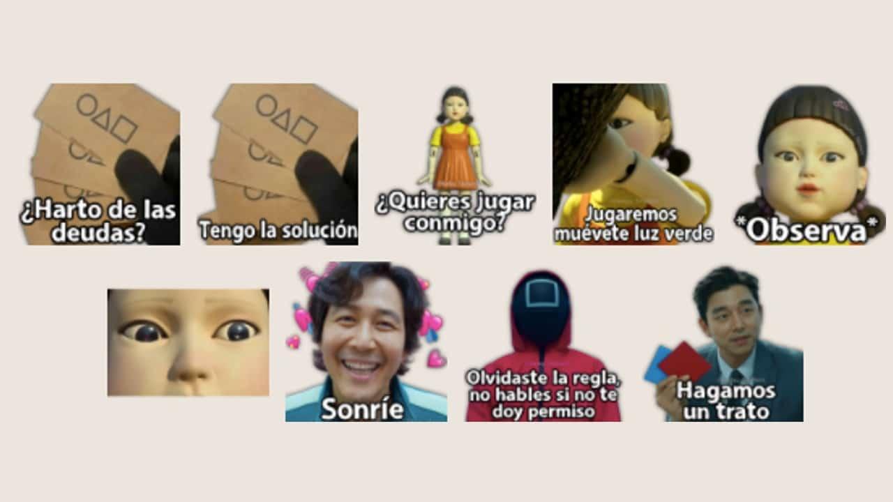 WhatsApp Stickers El Juego del Calamar