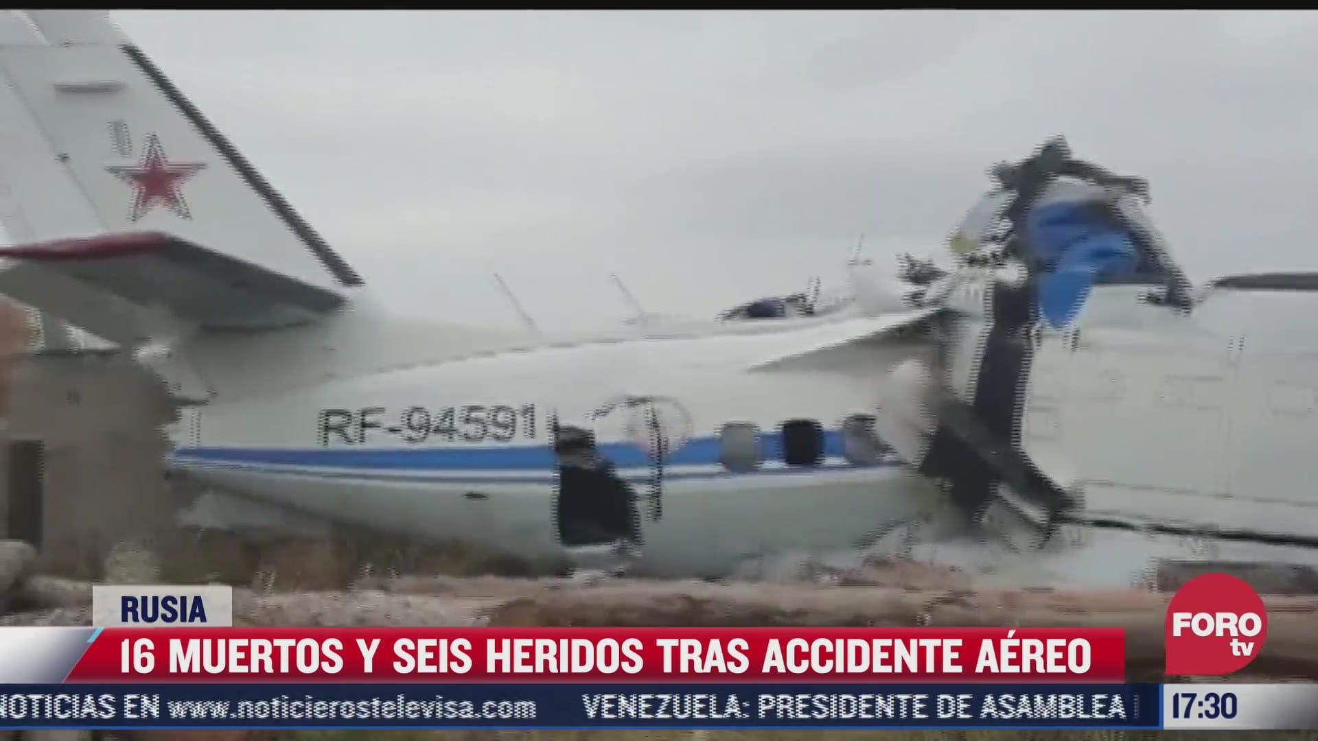 16 muertos y seis heridos tras accidente aereo en rusia
