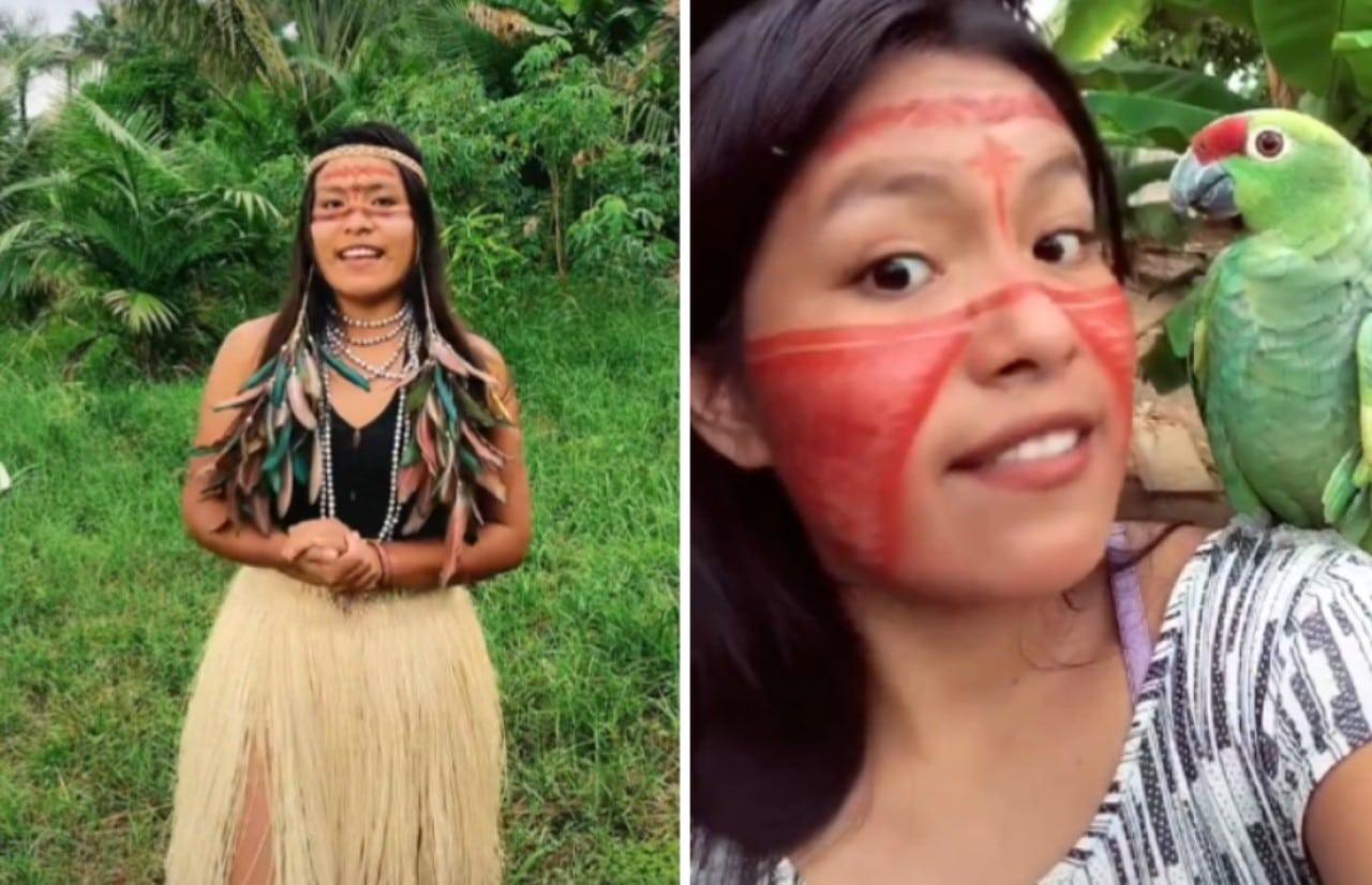 Cunhaporanga, la indígena de Brasil famosa en TikTok