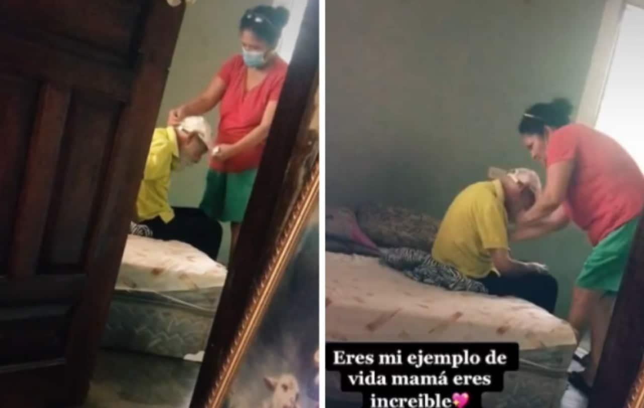 Mujer cuida a su exsuegro pesa a ausencia de exesposo: Video