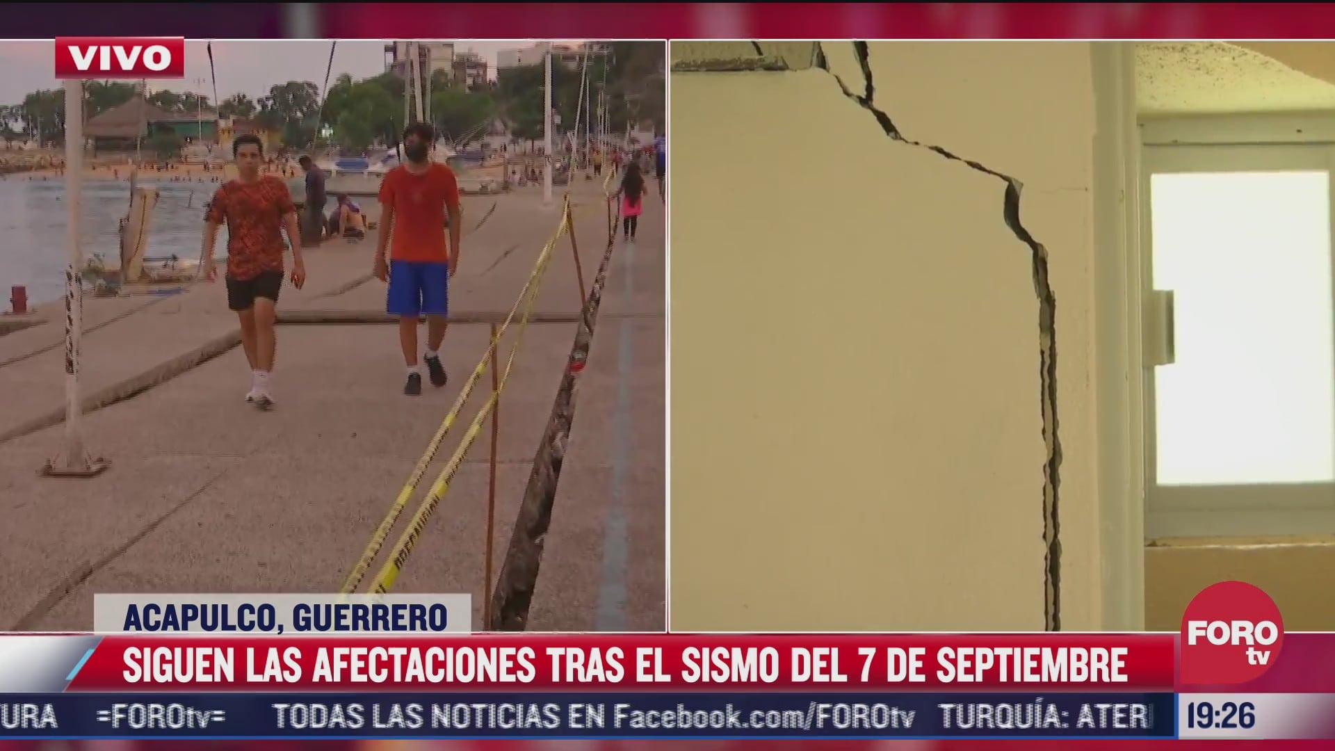 a un mes del sismo en acapulco siguen afectaciones