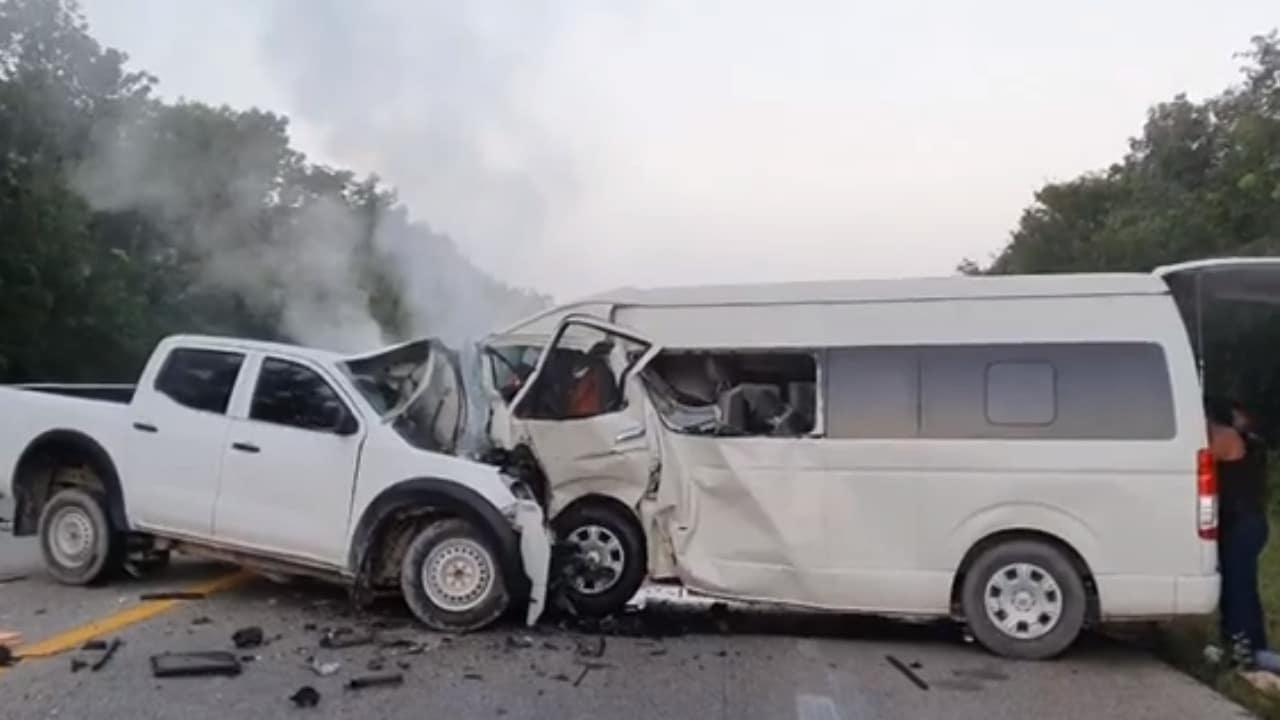 Accidente vial deja 6 muertos y 11 heridos en Quintana Roo
