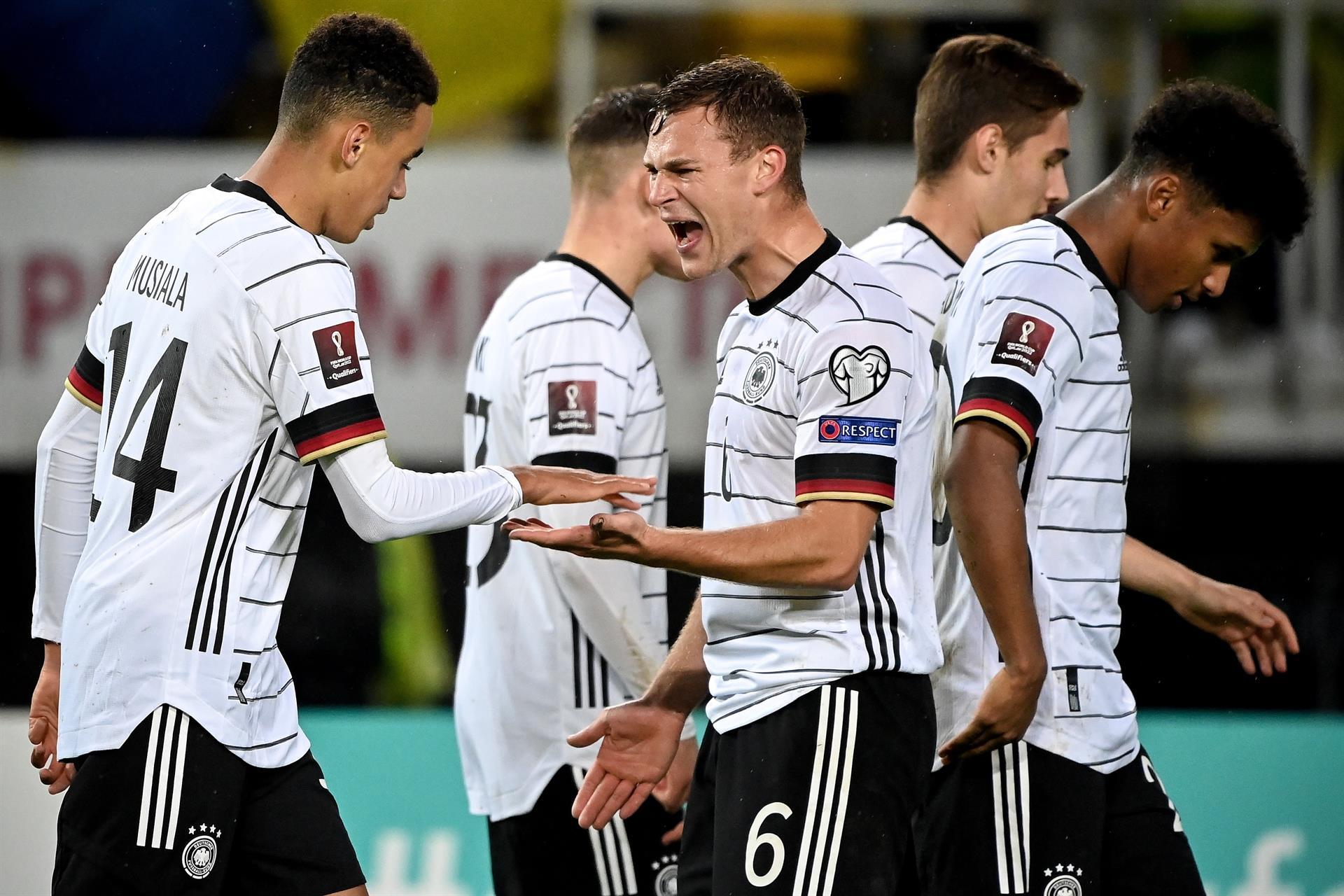 Alemania durante el partido de clasificación de Qatar para la Copa Mundial de la FIFA 2022 contra Macedonia del Norte (EFE)