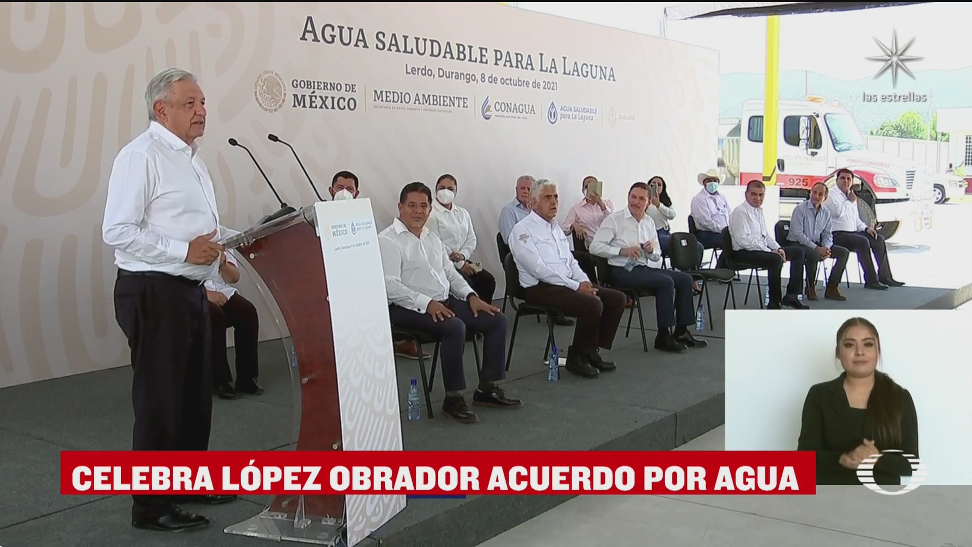 amlo celebra acuerdo con estados unidos por agua