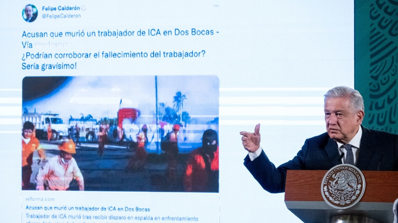 El presidente Andrés Manuel López Obrador habla sobre los enfrentamientos registrados en la refinería de Dos Bocas, Tabasco