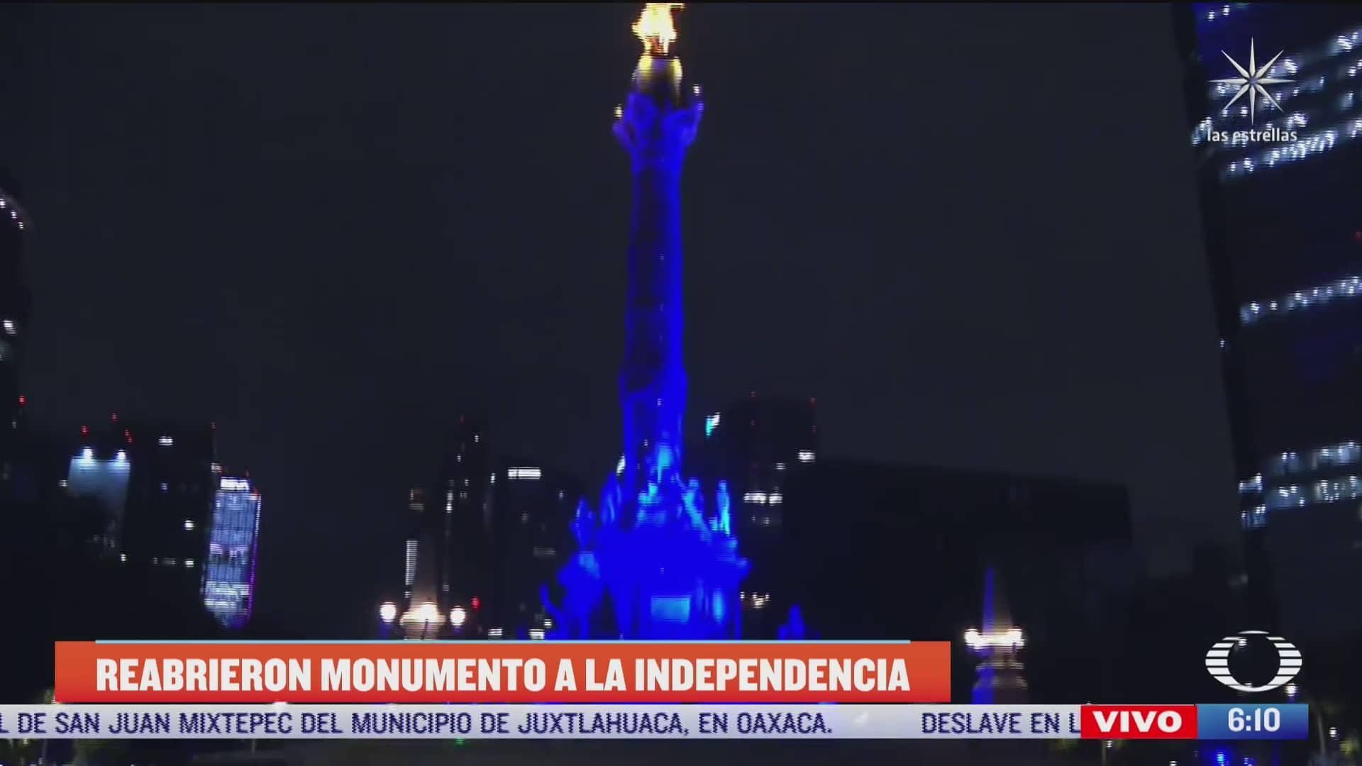 Retiran vallas que resguardaron el Ángel de la Independencia en CDMX