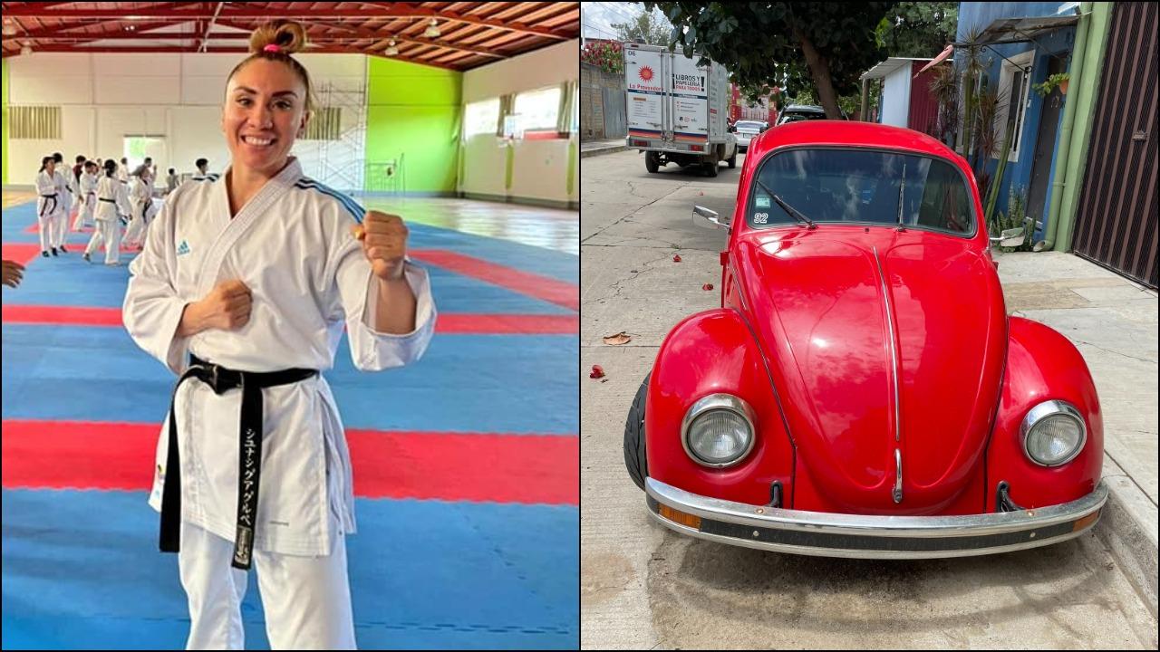 Atleta Xhunashi Caballero pone a la venta su vocho para ir a Mundial de Karate