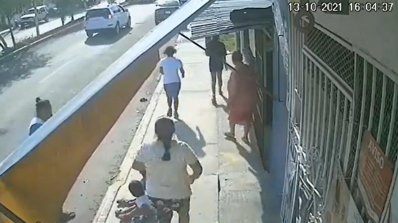 atropellado, Chetumal, cámara, taxista, captura de pantalla