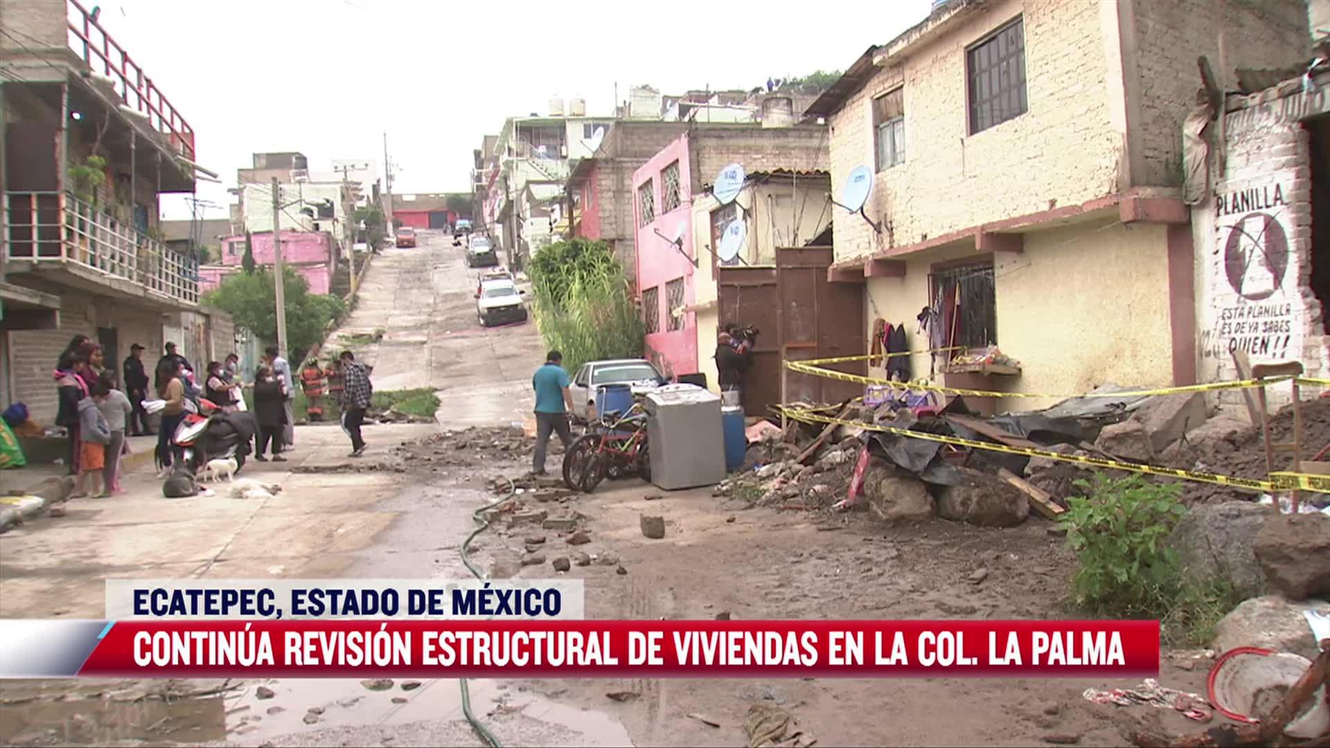 autoridades resguardan zona del derrumbe en ecatepec