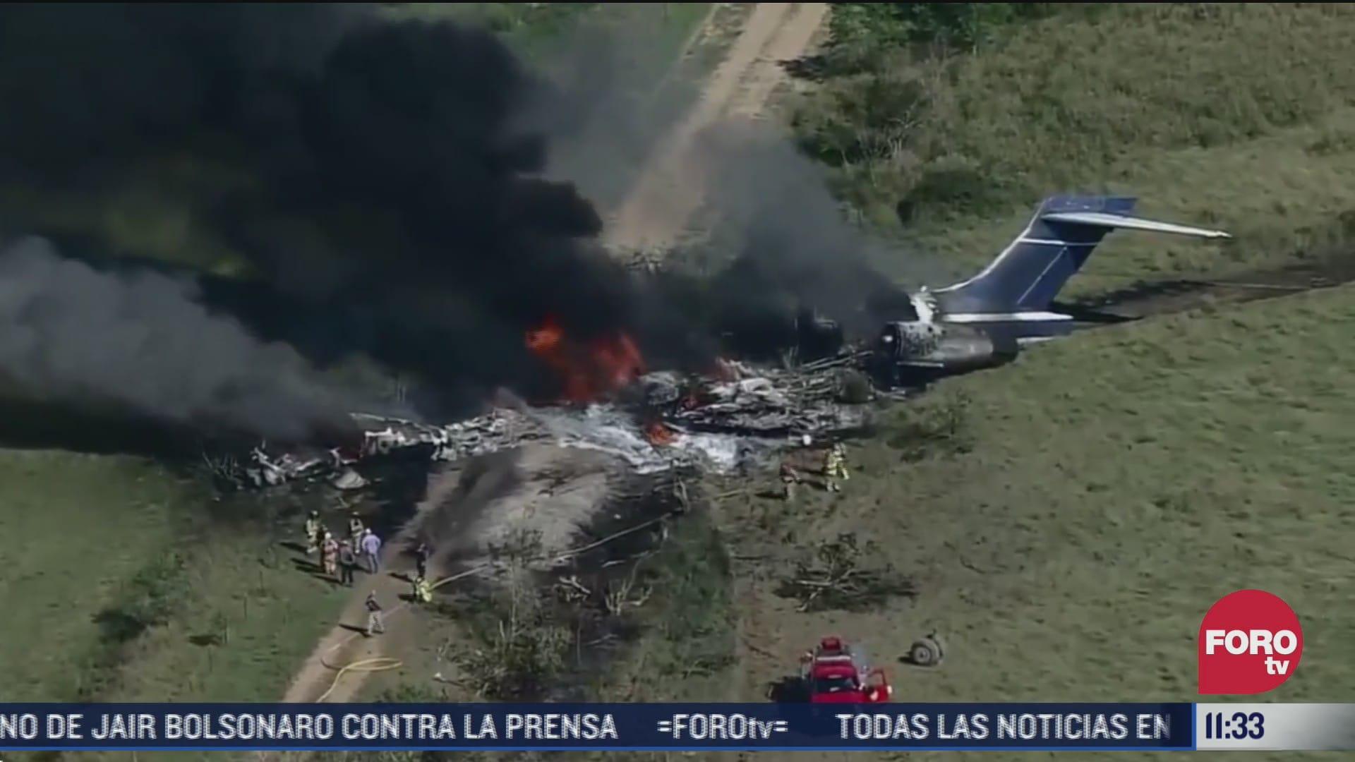 avion se estrella en condado de waller en texas