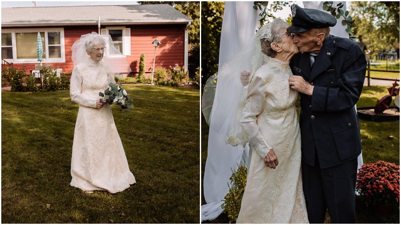 boda, Facebook, veterano, adultos mayores